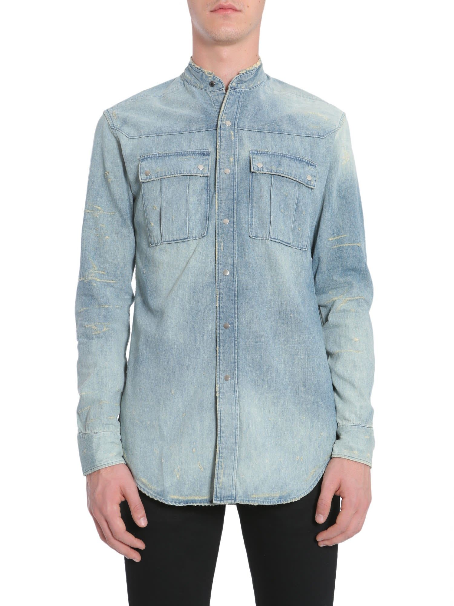 eda6da89 Balmain Balmain Denim Shirt - DENIM - 8511790 | italist
