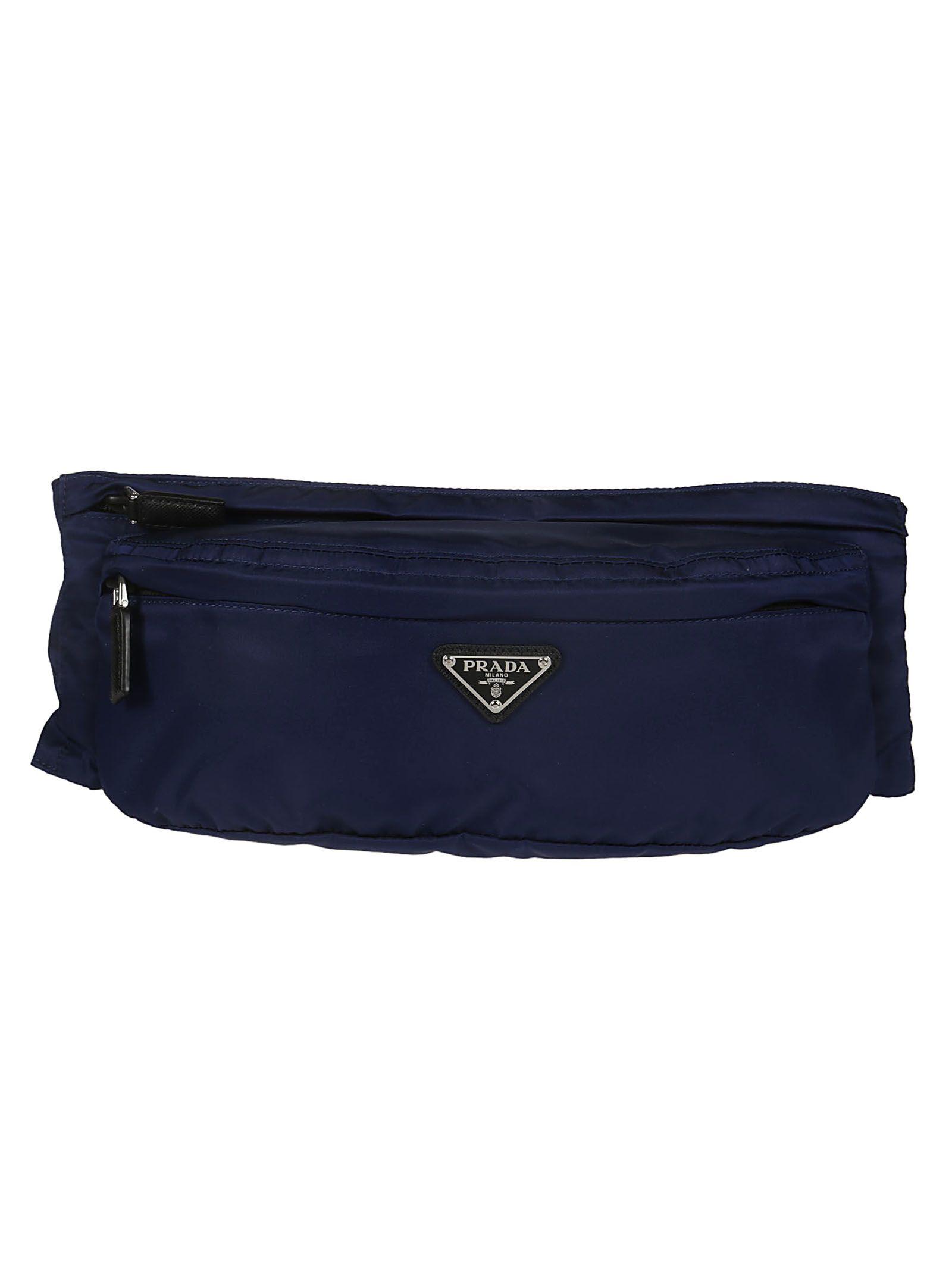 7840c1a6e354 Prada Prada Logo Plaque Belt Bag - Blue - 10831179