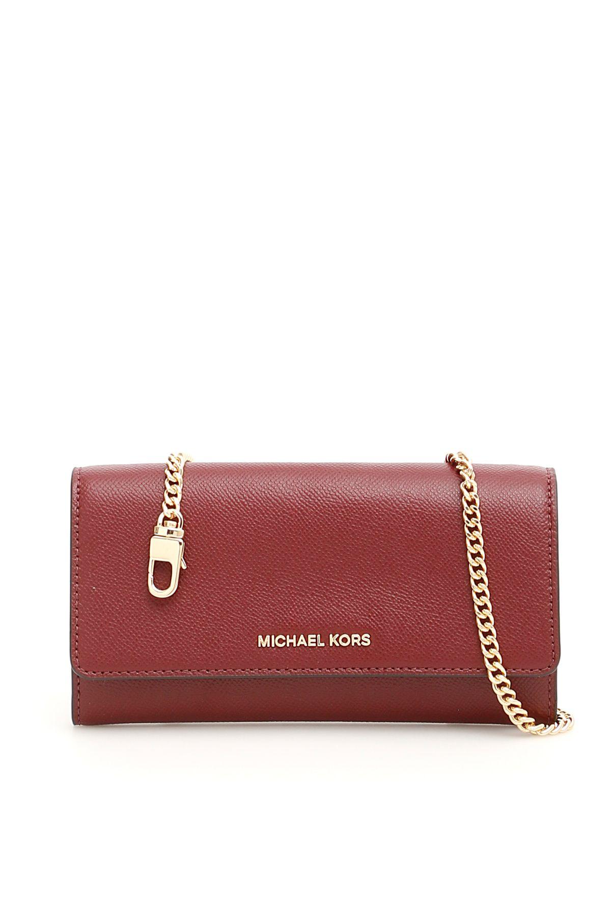 a3f991e3e899 MICHAEL Michael Kors MICHAEL Michael Kors Wallet On Chain - OXBLOOD ...