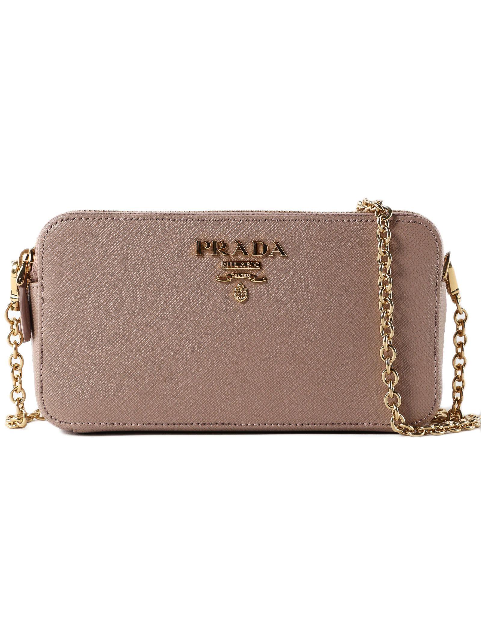 b2732ade49 Prada Prada Mini Logo Shoulder Bag - Pink - 10794215