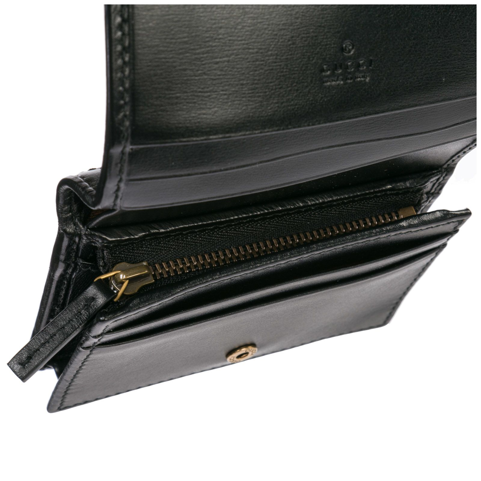 35e8d51293c ... Gucci Genuine Leather Credit Card Case Holder Wallet Doppia G - Black
