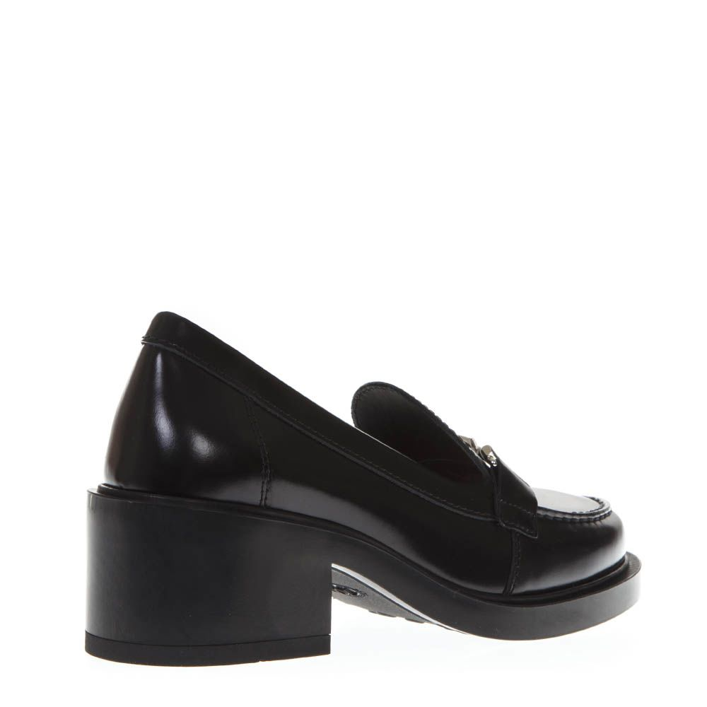 c28b224ccc6 ... Tod s Black Shiny Leather Double T Loafers - Black