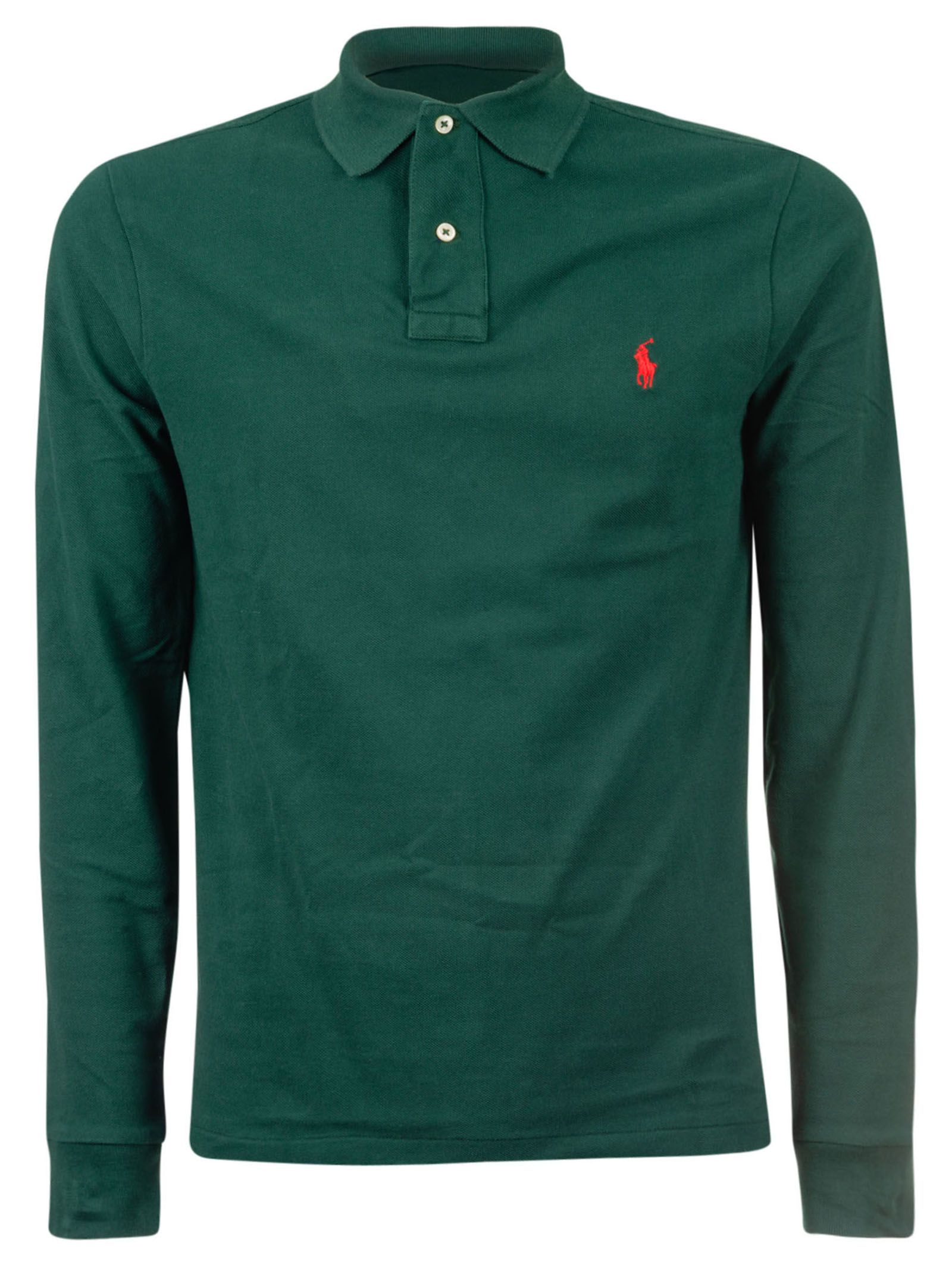 Ralph Lauren Ralph Lauren Long Sleeved Polo Shirt College Green