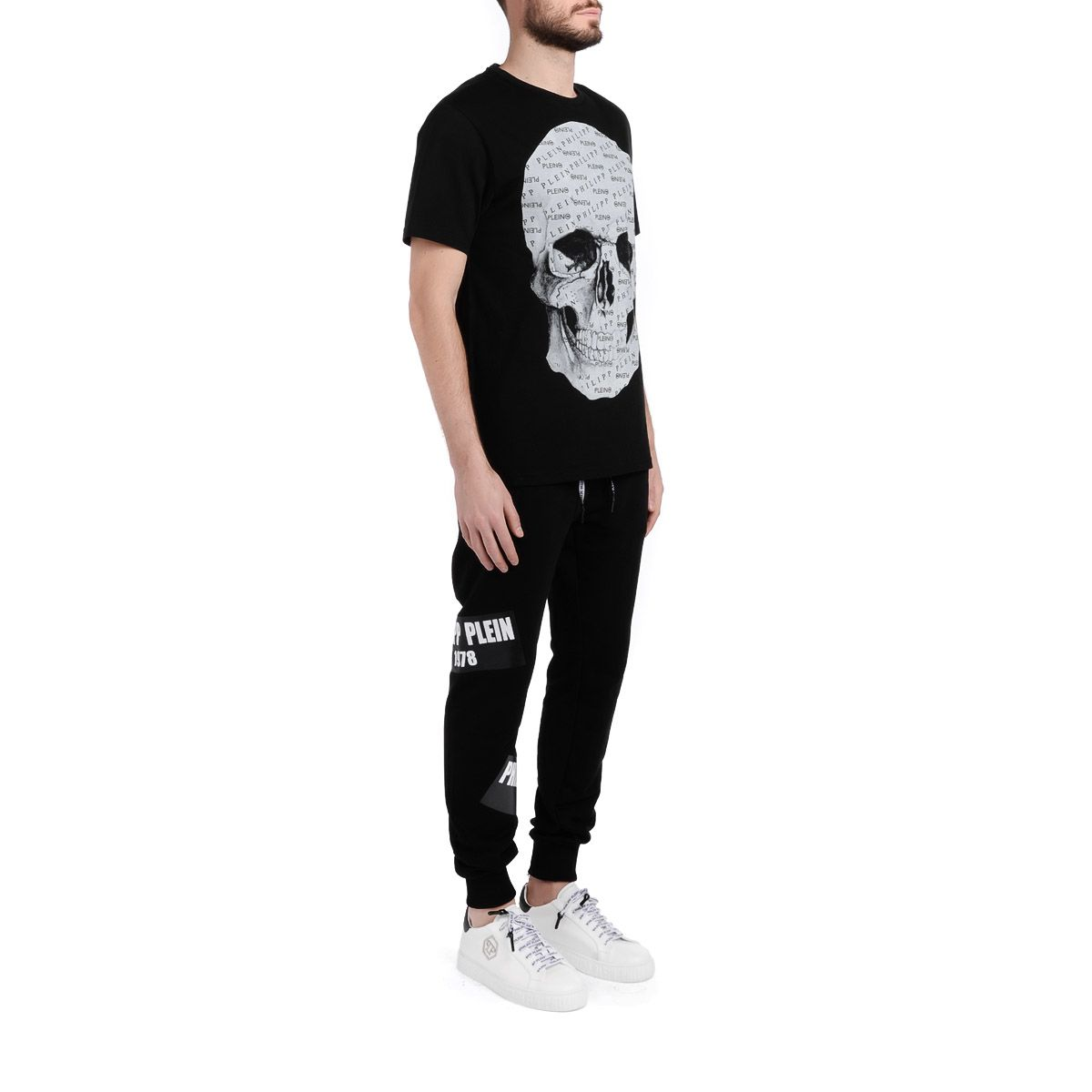 5d64724372 ... Philipp Plein Platinum Cut Black T-shirt With Skull Impression - NERO
