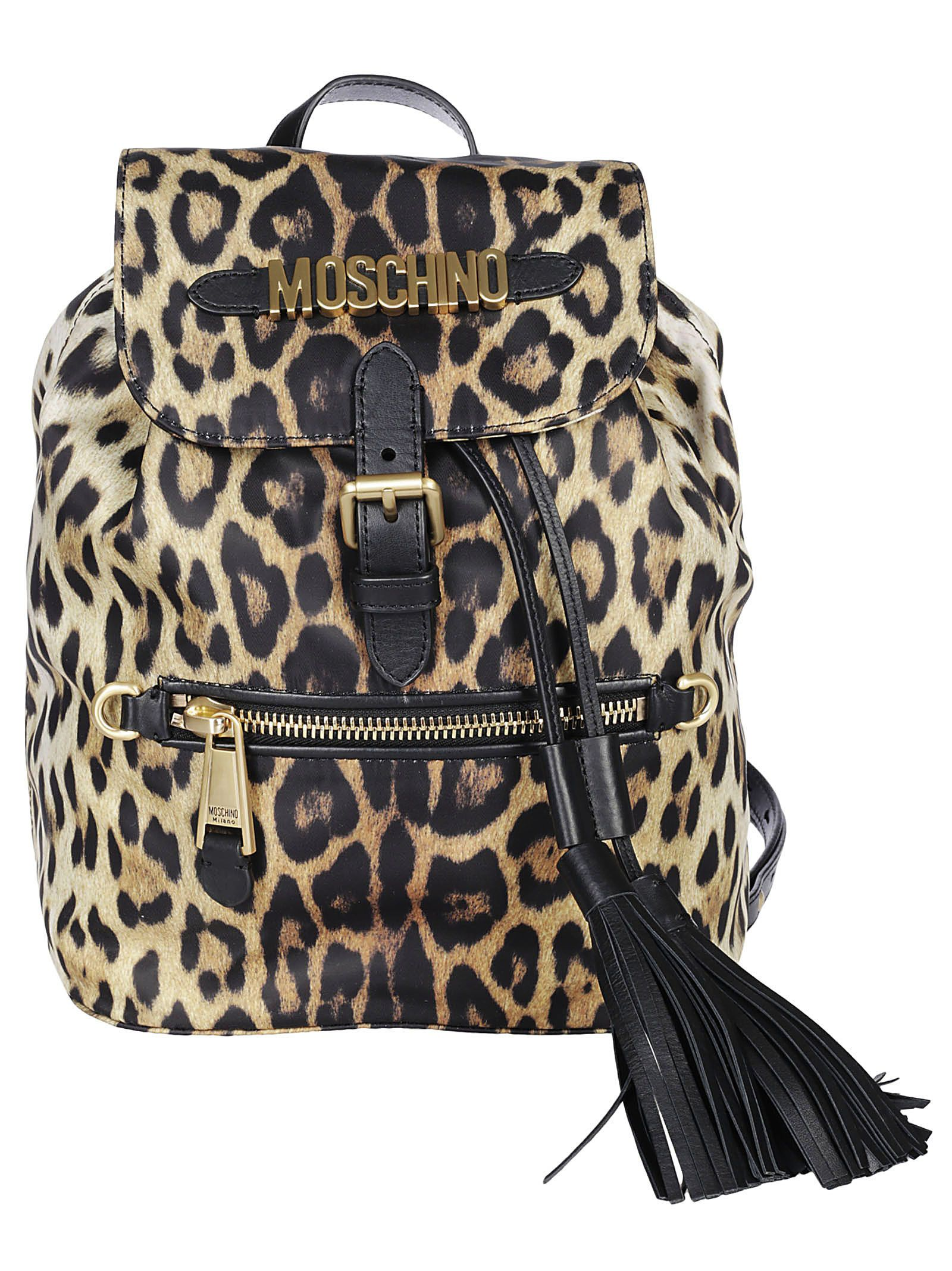Moschino Moschino Leopard Print Backpack - Multicolor - 10813634 ... 932745979e3fa