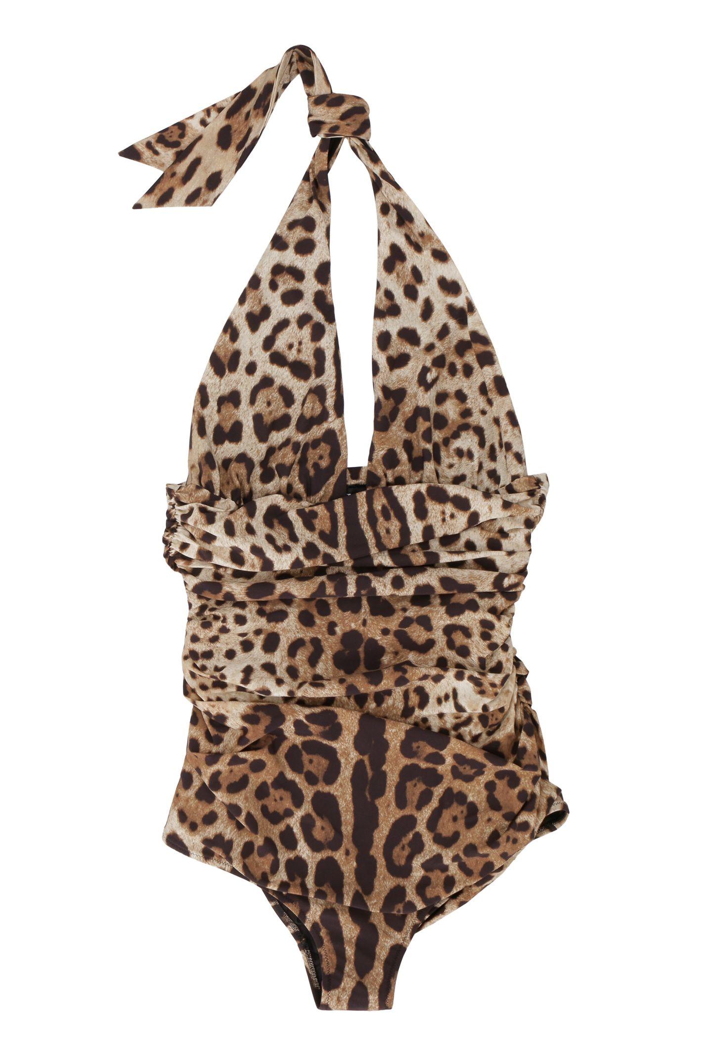 adde57d317a Dolce & Gabbana Dolce & Gabbana Leopard Print One-piece Swimsuit ...