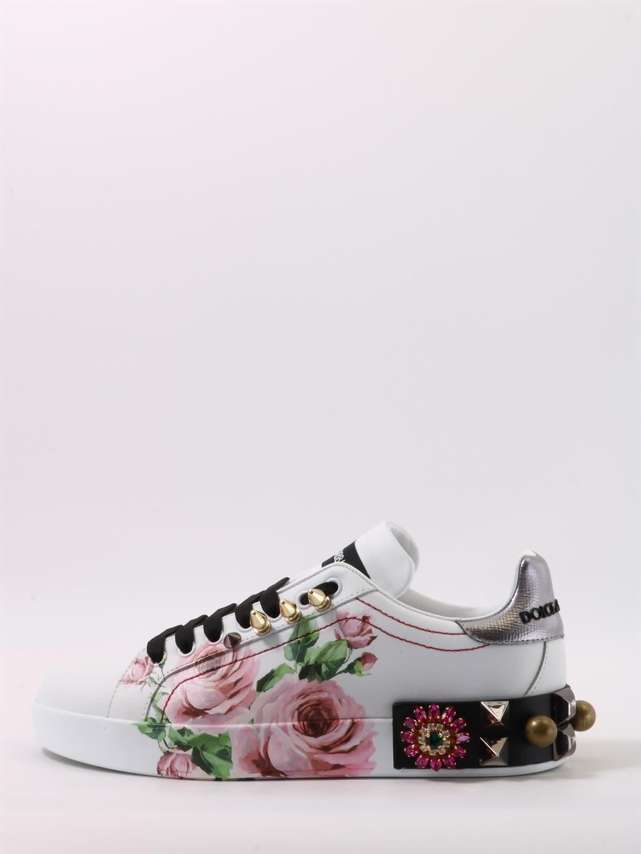 94718bd7d661 Dolce   Gabbana Dolce   Gabbana Sneakers Portofino Floral Print ...