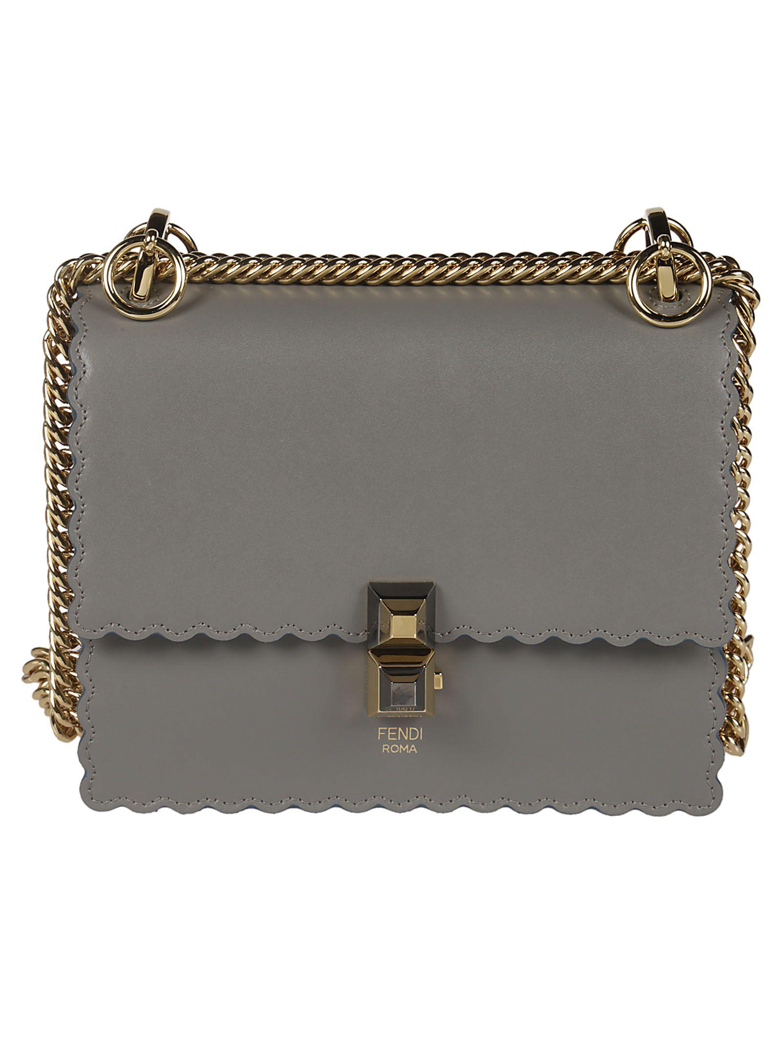 57b5065f8e50 Fendi Fendi Scalloped Shoulder Bag - argil - 10805948