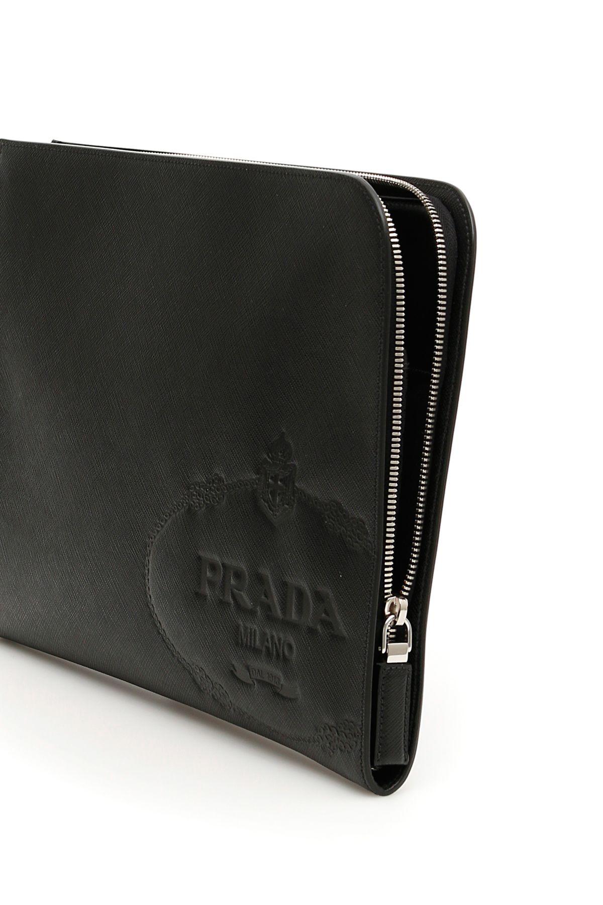 bc83505c18a5 Prada Prada Saffiano Document Holder - NERO (Black) - 10903418 | italist
