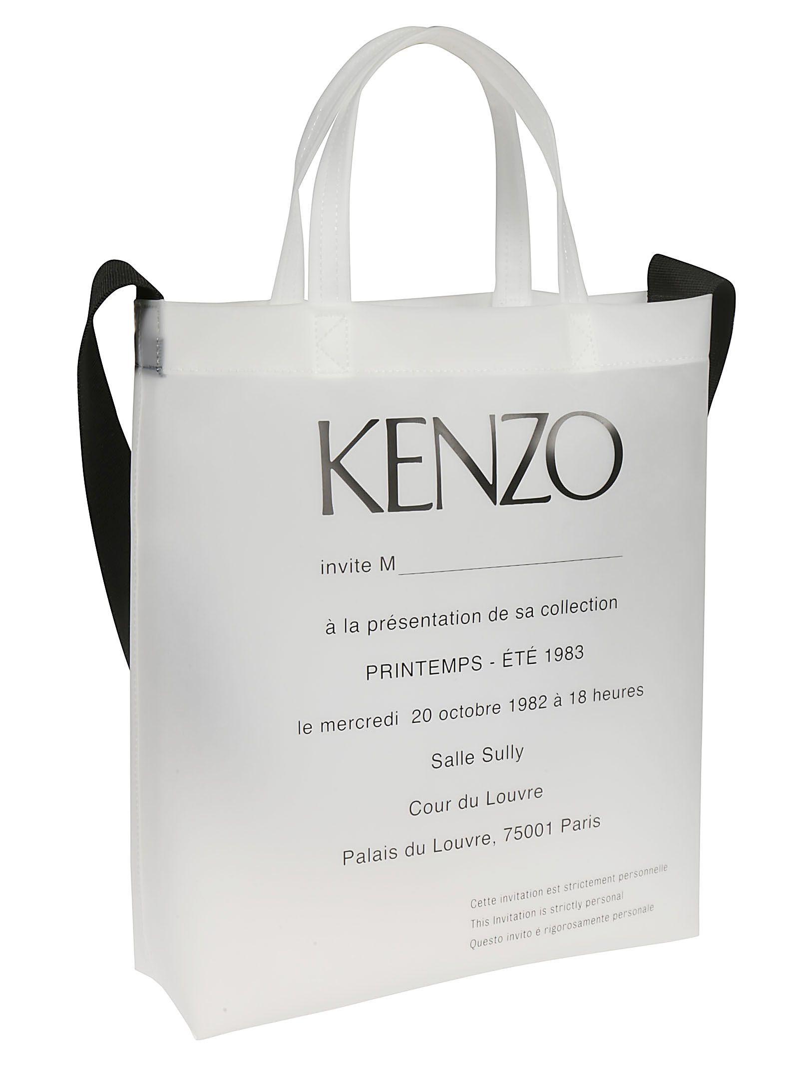 b4d8801d4f Kenzo Printed Shopper Bag - White Kenzo Printed Shopper Bag - White ...