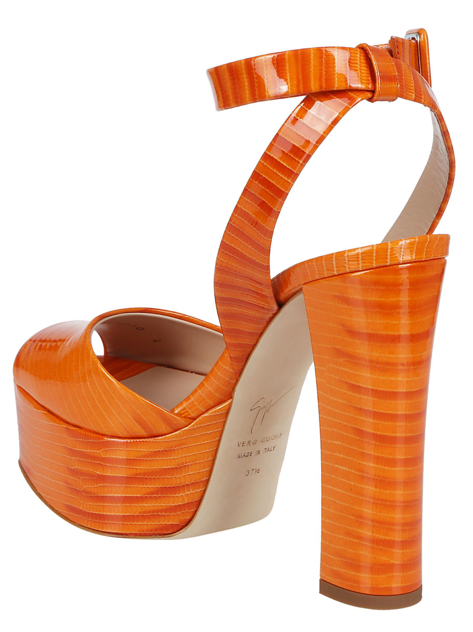 84e7d65243 Giuseppe Zanotti Giuseppe Zanotti Betty Platform Sandals - Orange ...