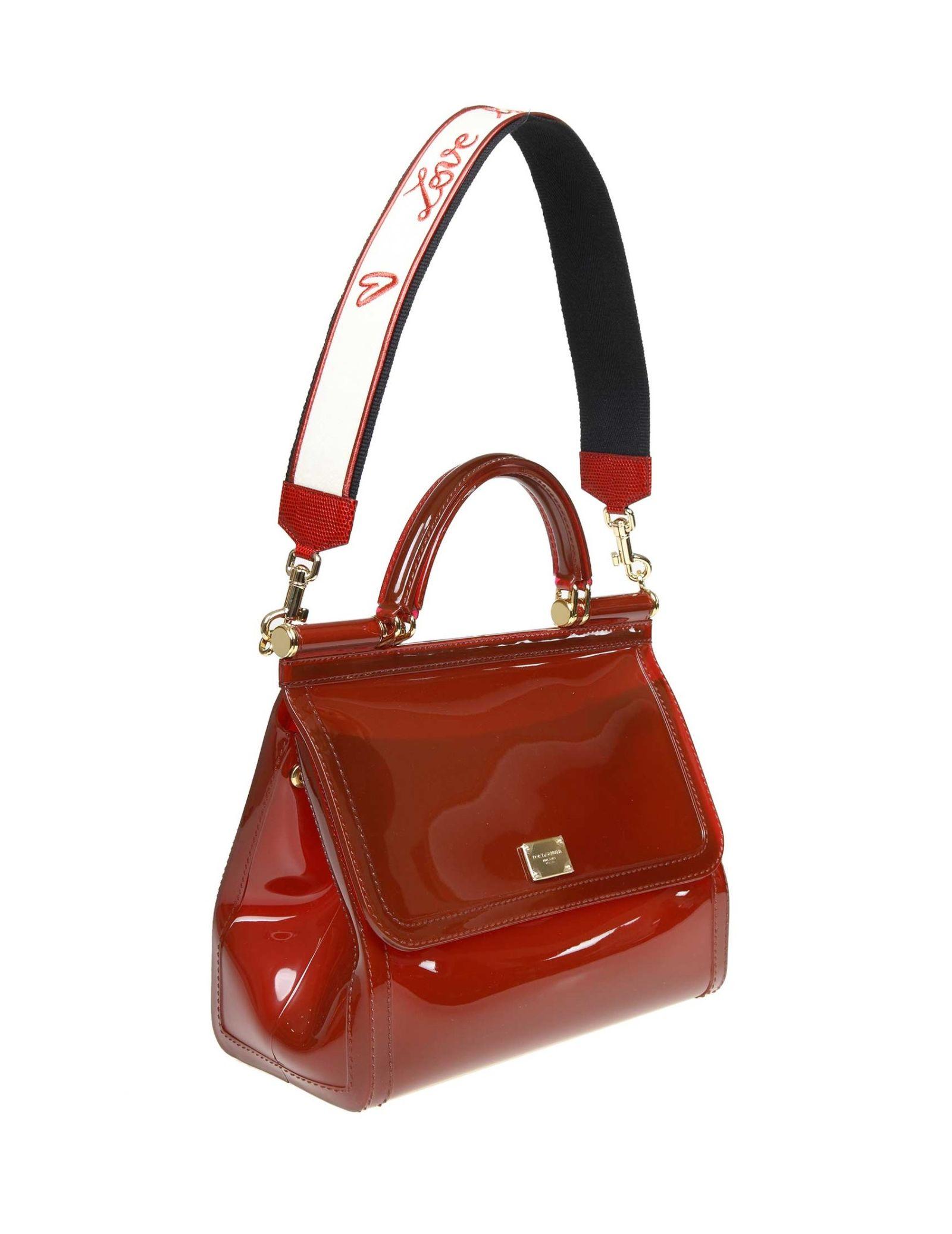 02f894d810d6 ... Dolce   Gabbana Sicily Hand Bag In Rubber Color Bordeaux - BORDEAUX ...