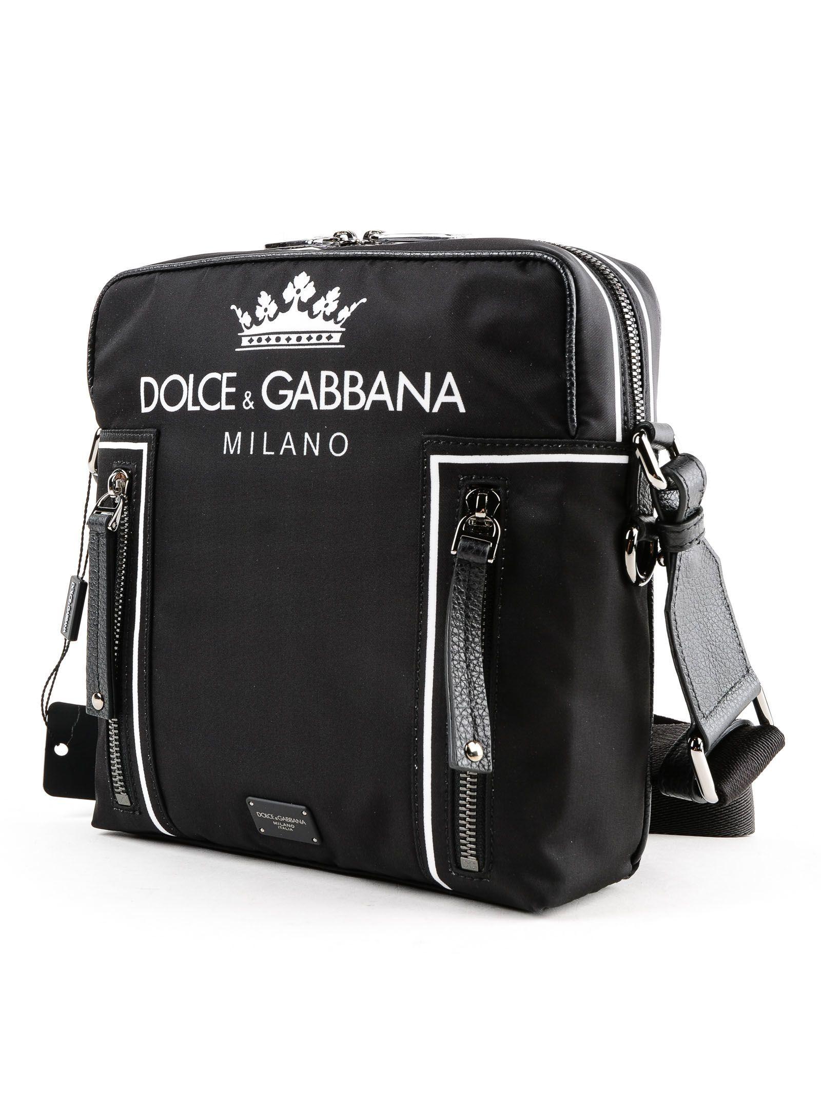 9bdc5e498ae Dolce & Gabbana Dolce & Gabbana Logo Print Crossbody Bag - Black ...