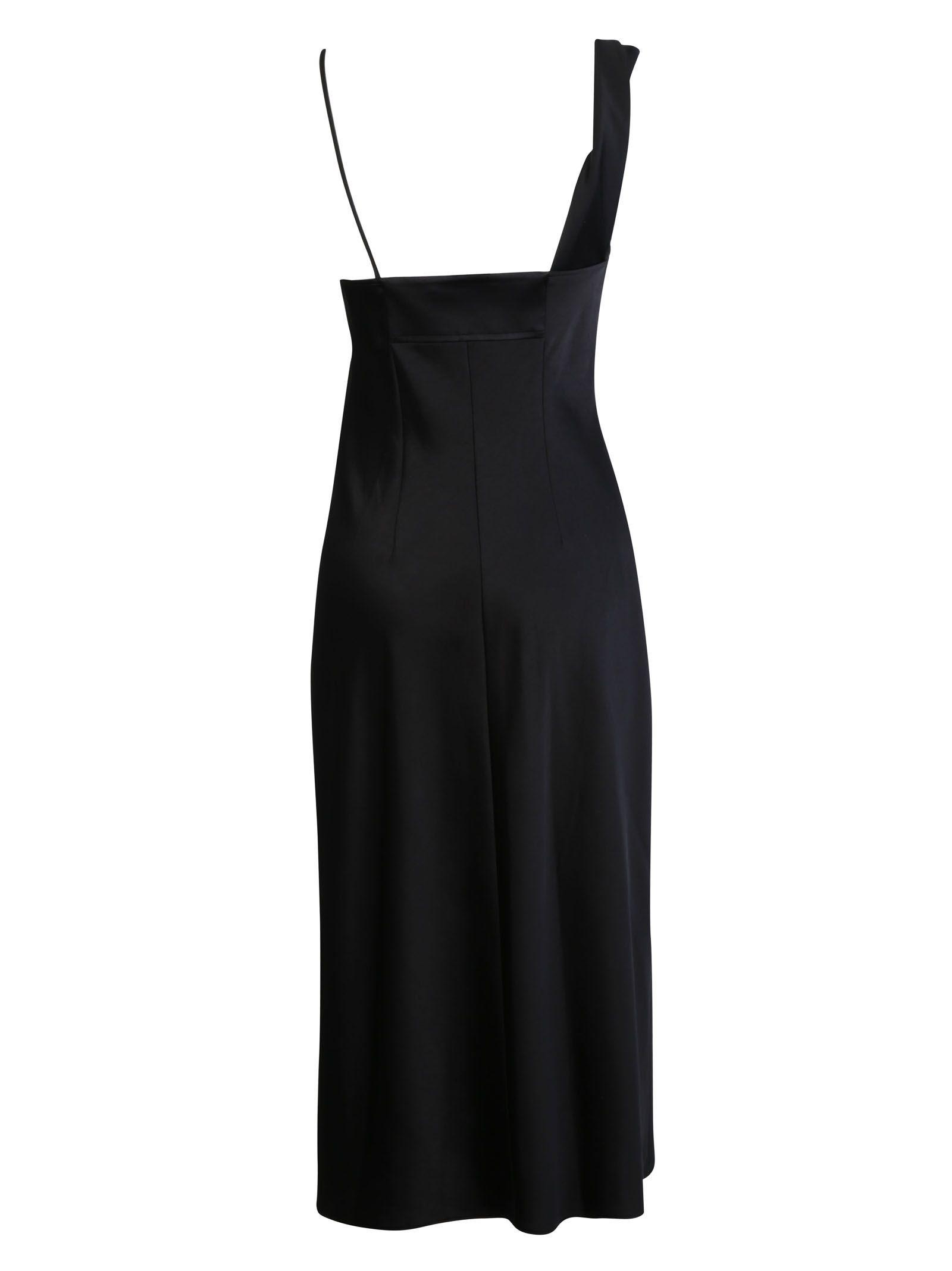 59aaf94dcea24 Alexander Wang Alexander Wang Asymmetric Slip Dress - Black ...