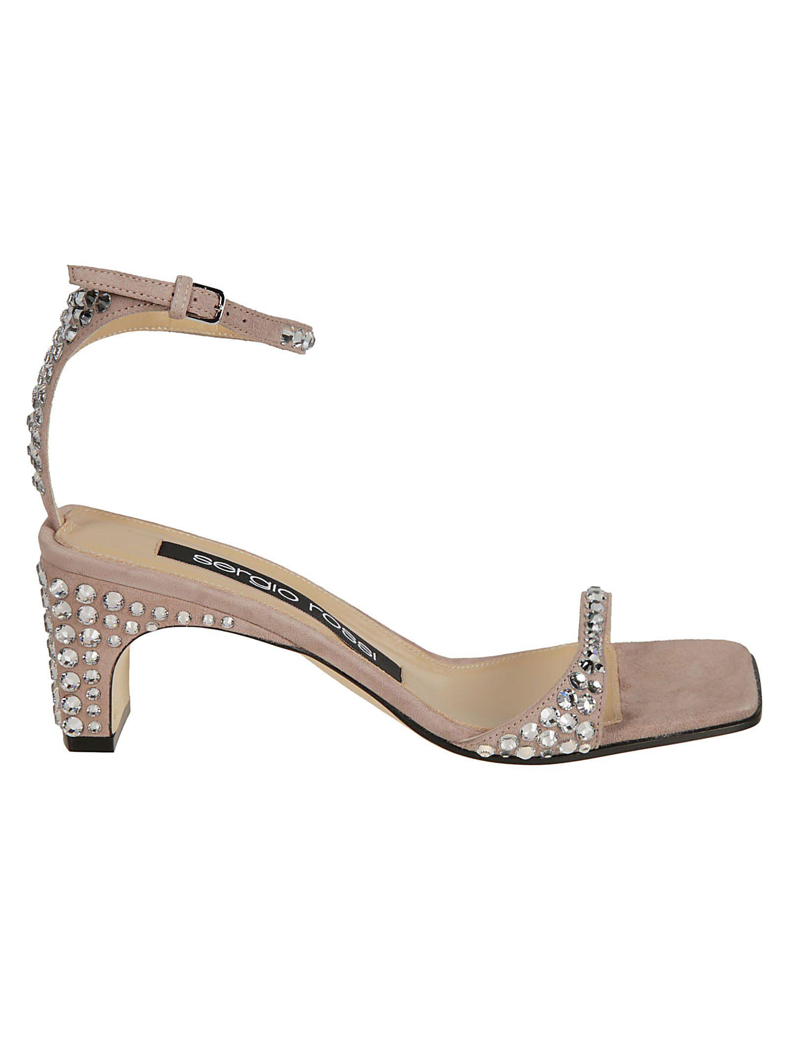 bf9ae30e9990c Sergio Rossi Sergio Rossi Embellished Sandals - Cipria - 10805393 ...