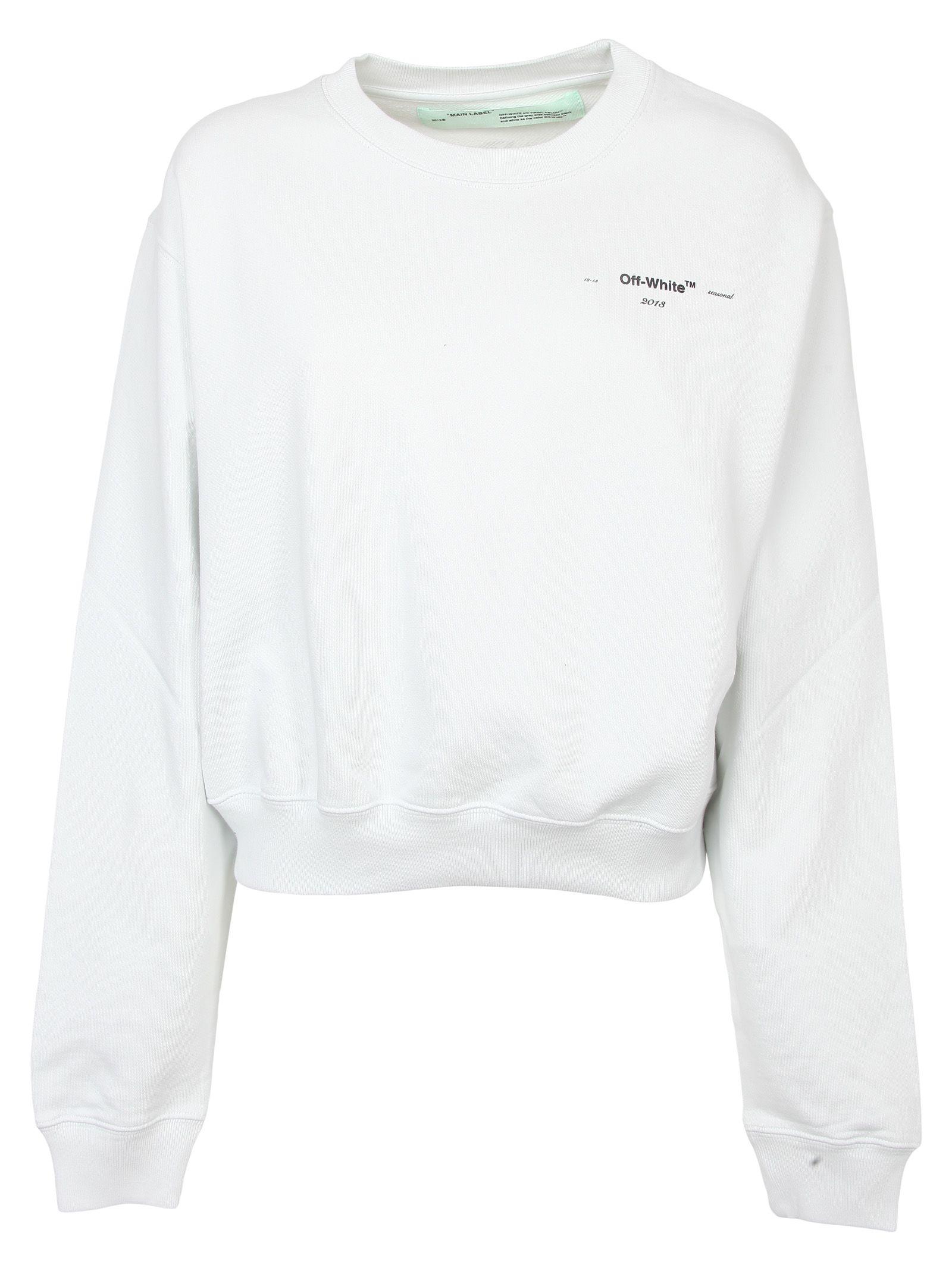 b2b8fb5b67af Off-White Off-white Leaves Arrows Print Sweatshirt - White ...