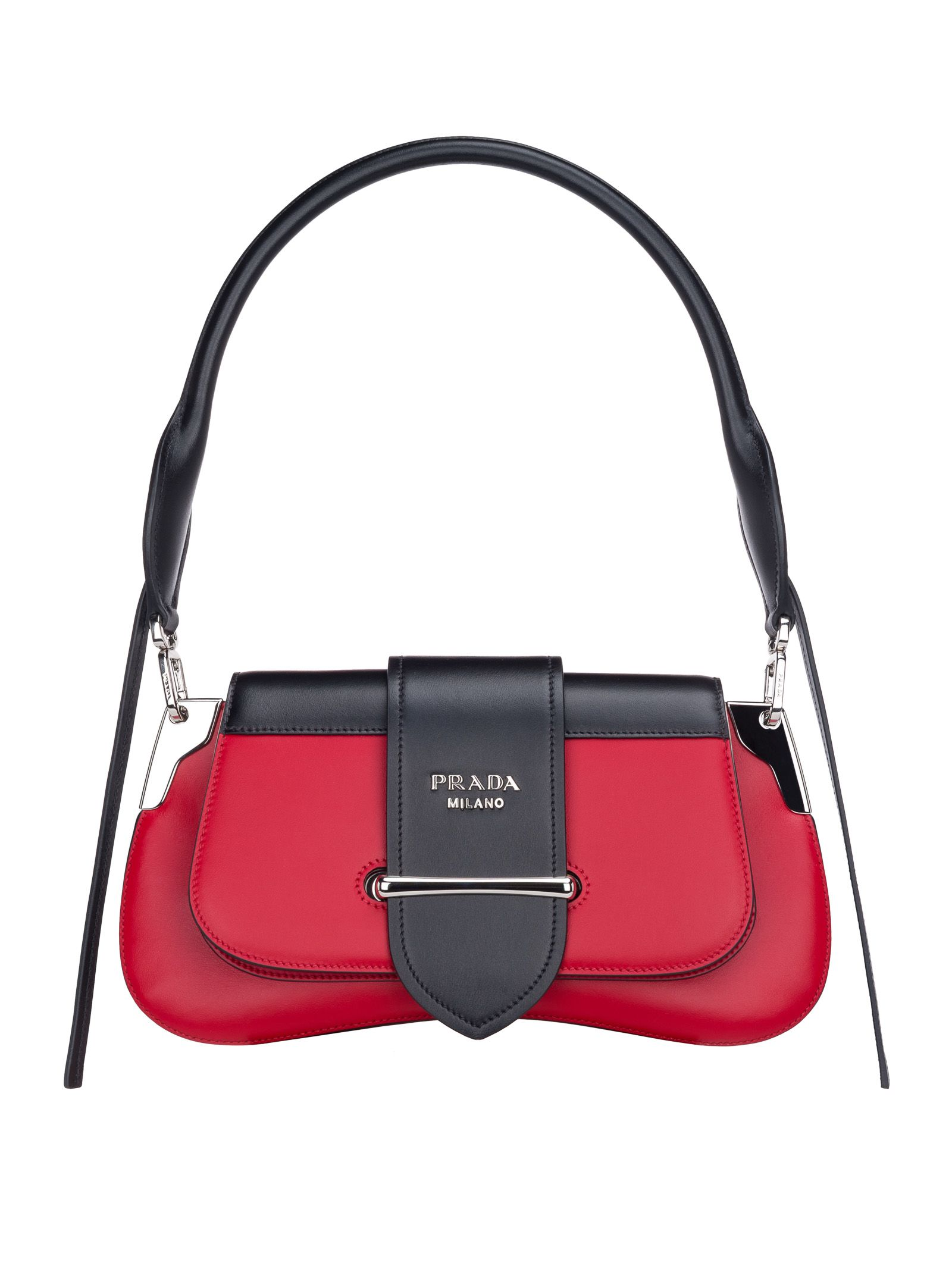 d464c1e81101 Prada Prada Prada Sidonie Shoulder Bag - RED+BLACK - 10772835 | italist