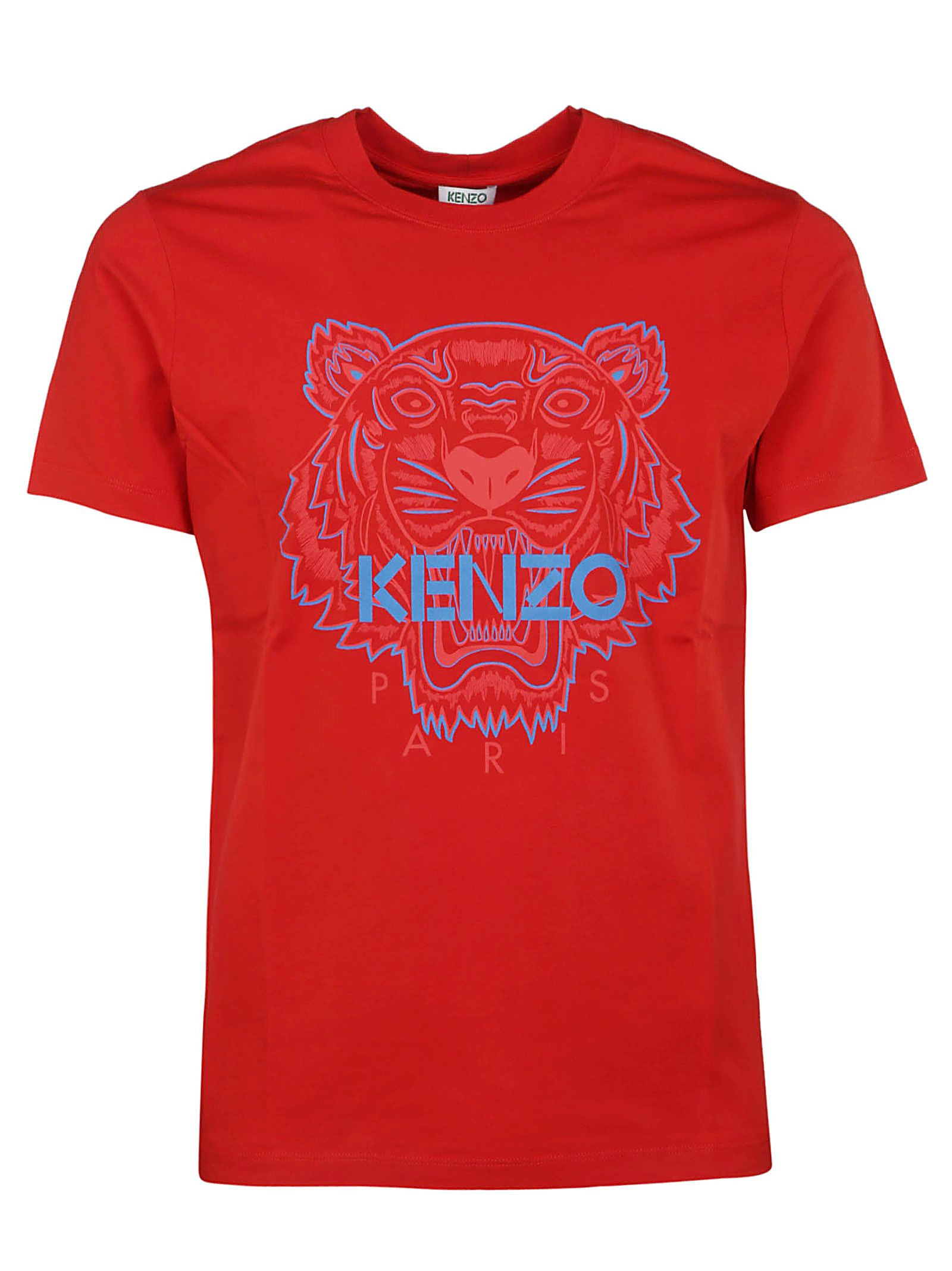 1663ff8b977 Kenzo Kenzo Two Tone Tiger Logo Print T-shirt - Basic - 10799718 ...