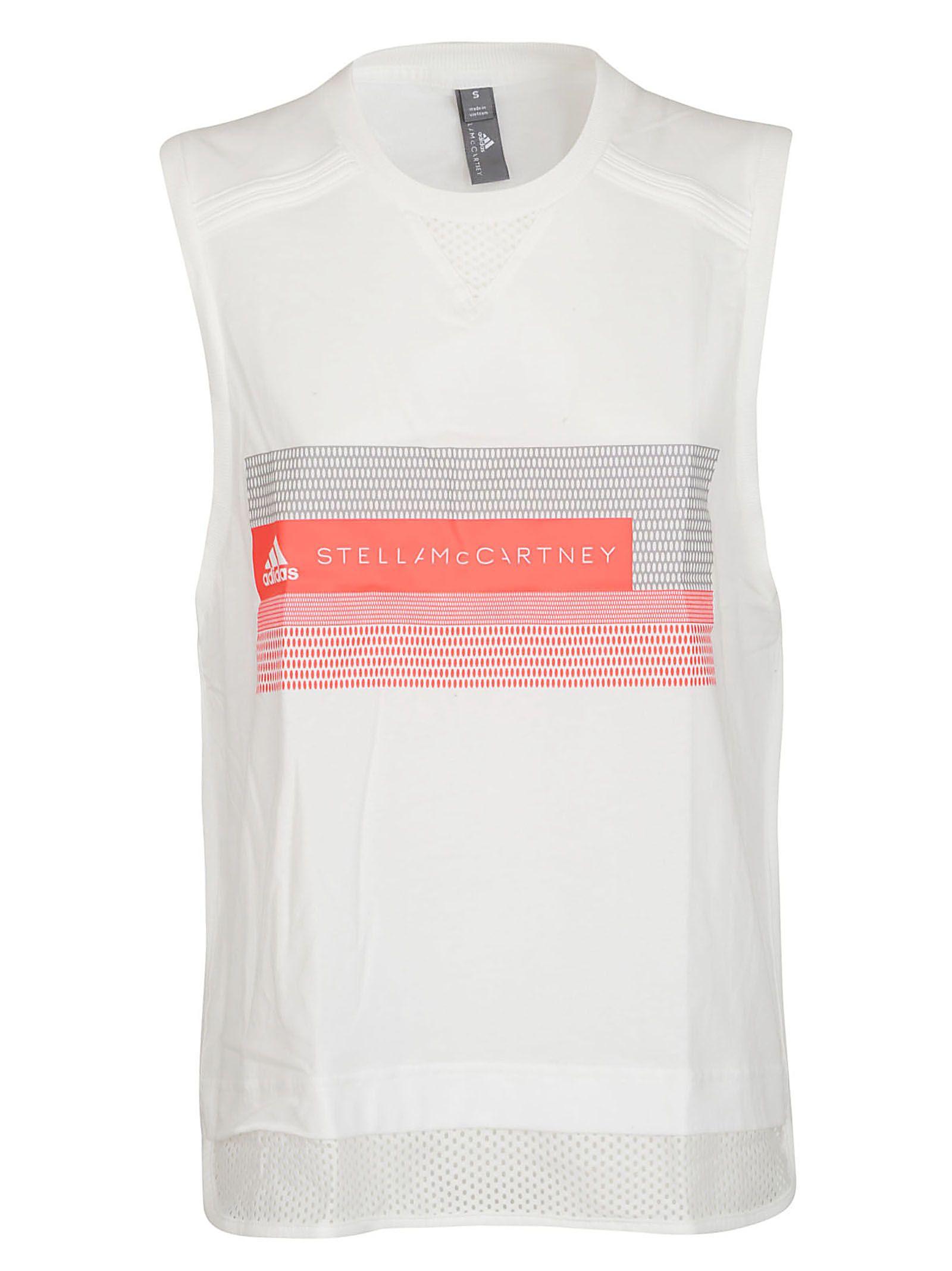 get cheap ad6aa b6e15 Adidas by Stella McCartney Mesh Panel Tank Top - White ...