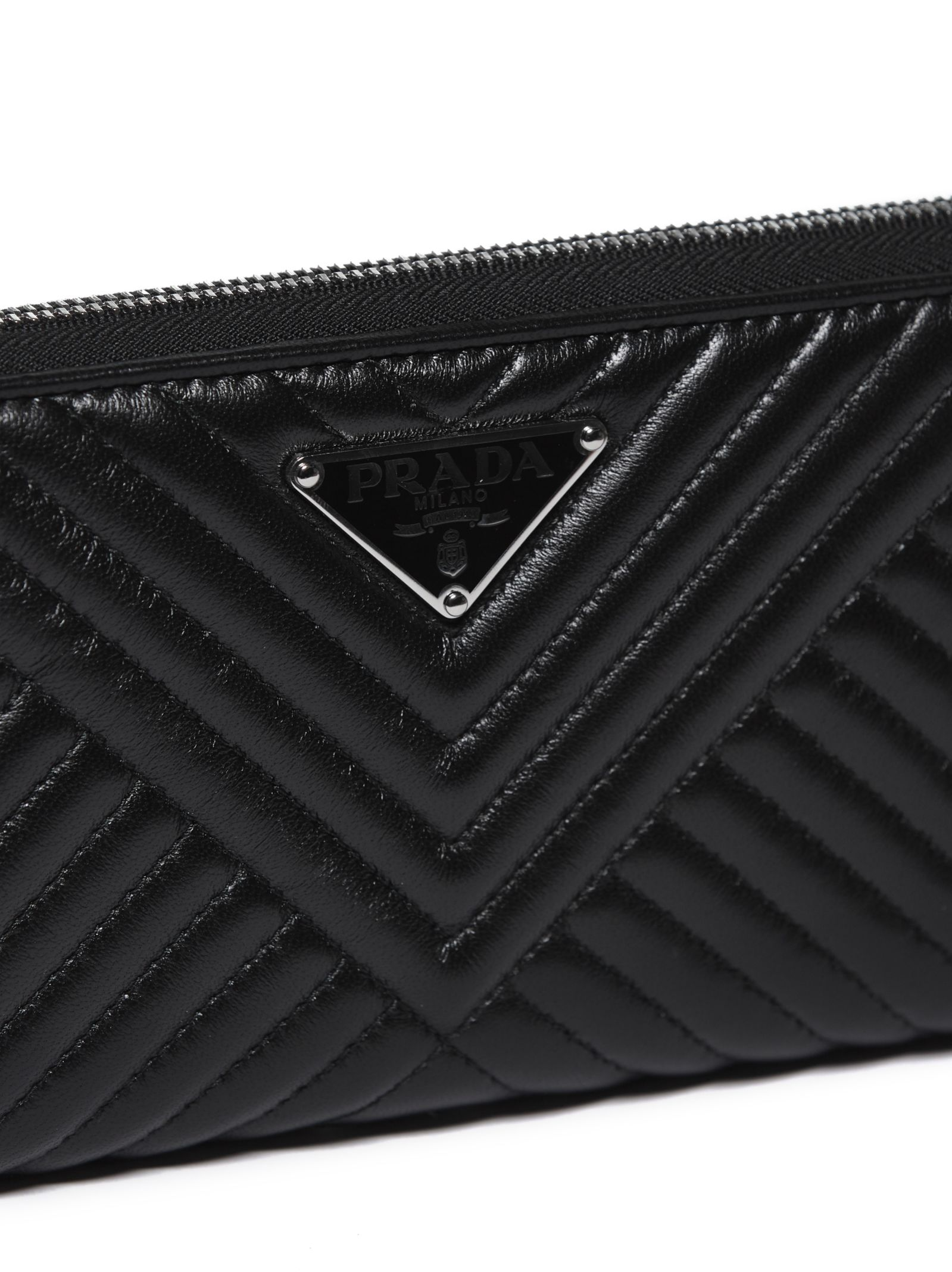 d2abd0063227 Prada Prada Saffiano Quilted Zip Around Wallet - Nero - 10774266 ...