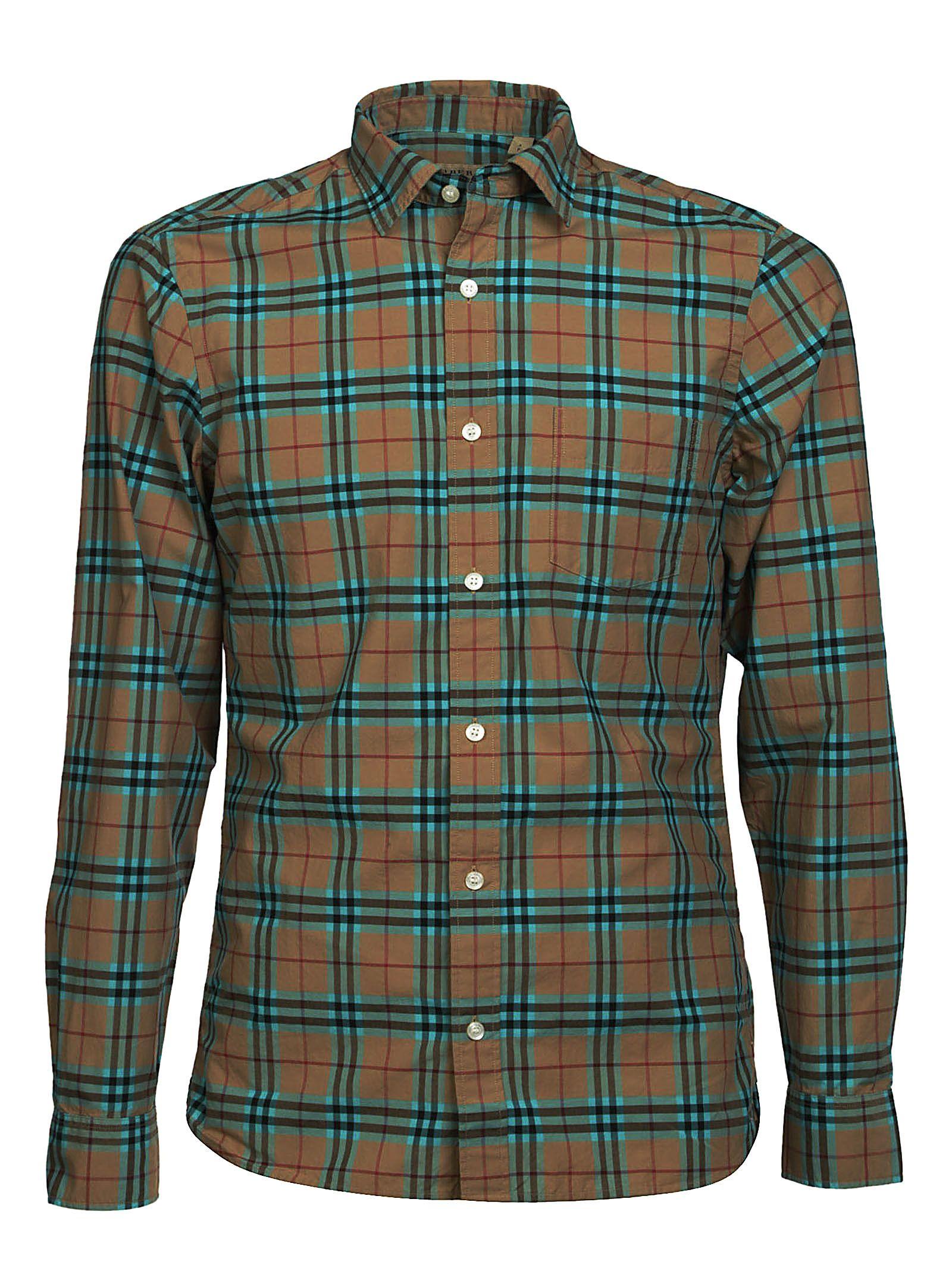 539d2323 Burberry Burberry Checked Shirt - Azure - 10578771 | italist