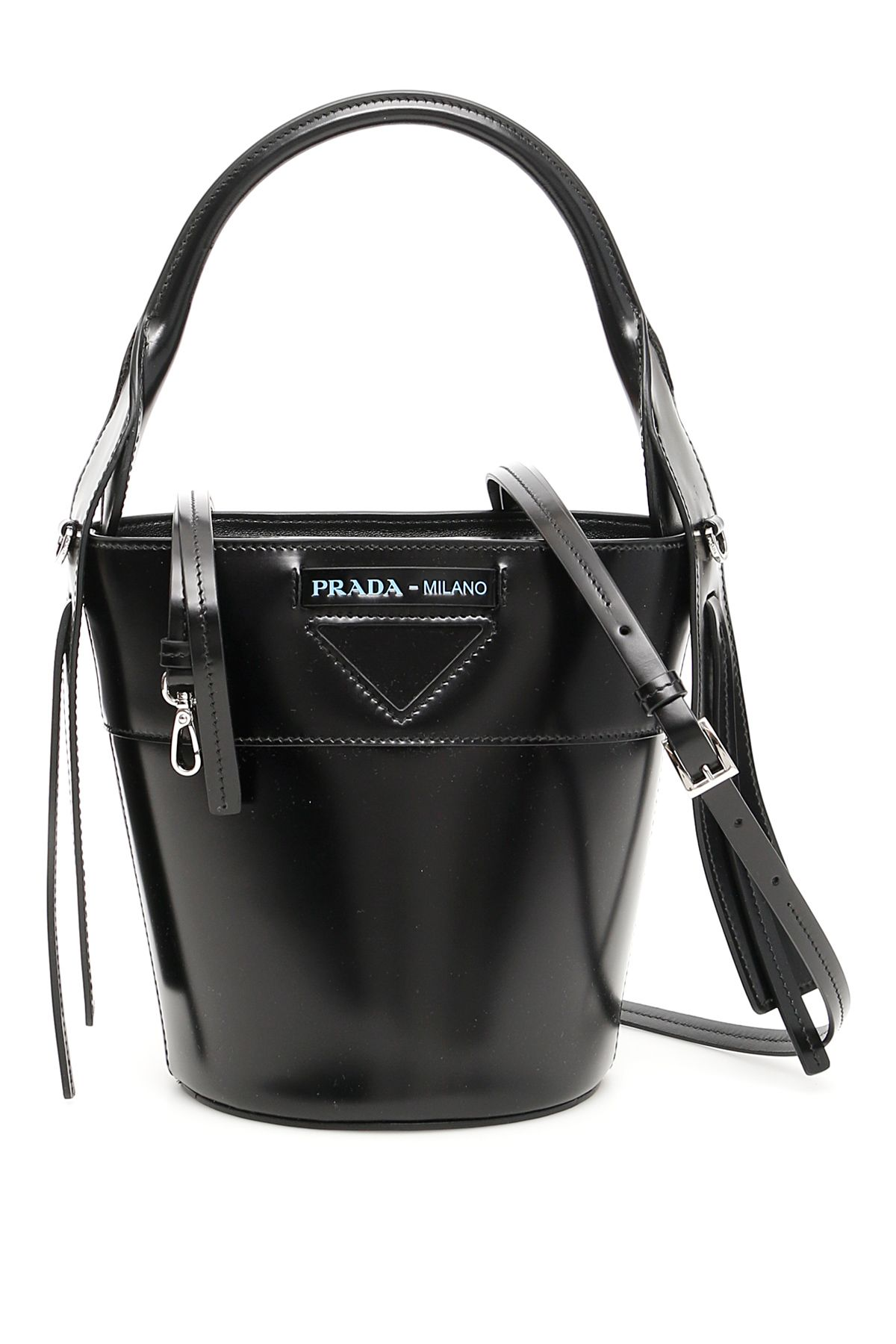 d14d0e113c50 Prada Prada Leather Ouverture Bucket Bag - NERO (Black) - 10962106 ...