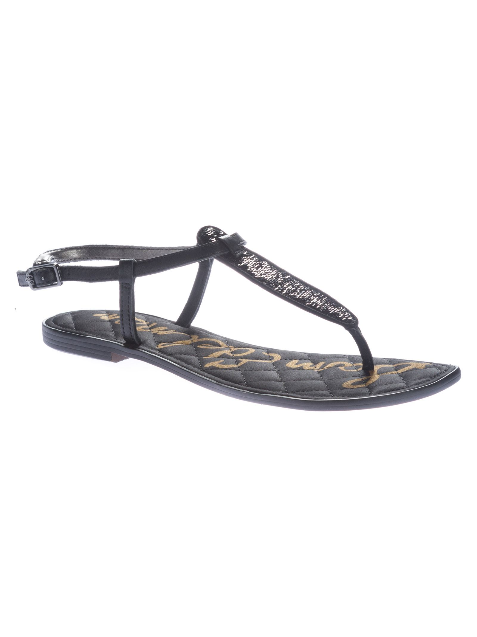 0b856900267fda Sam Edelman Sam Edelman Gigi Thong Flat Sandals - Black - 10578851 ...