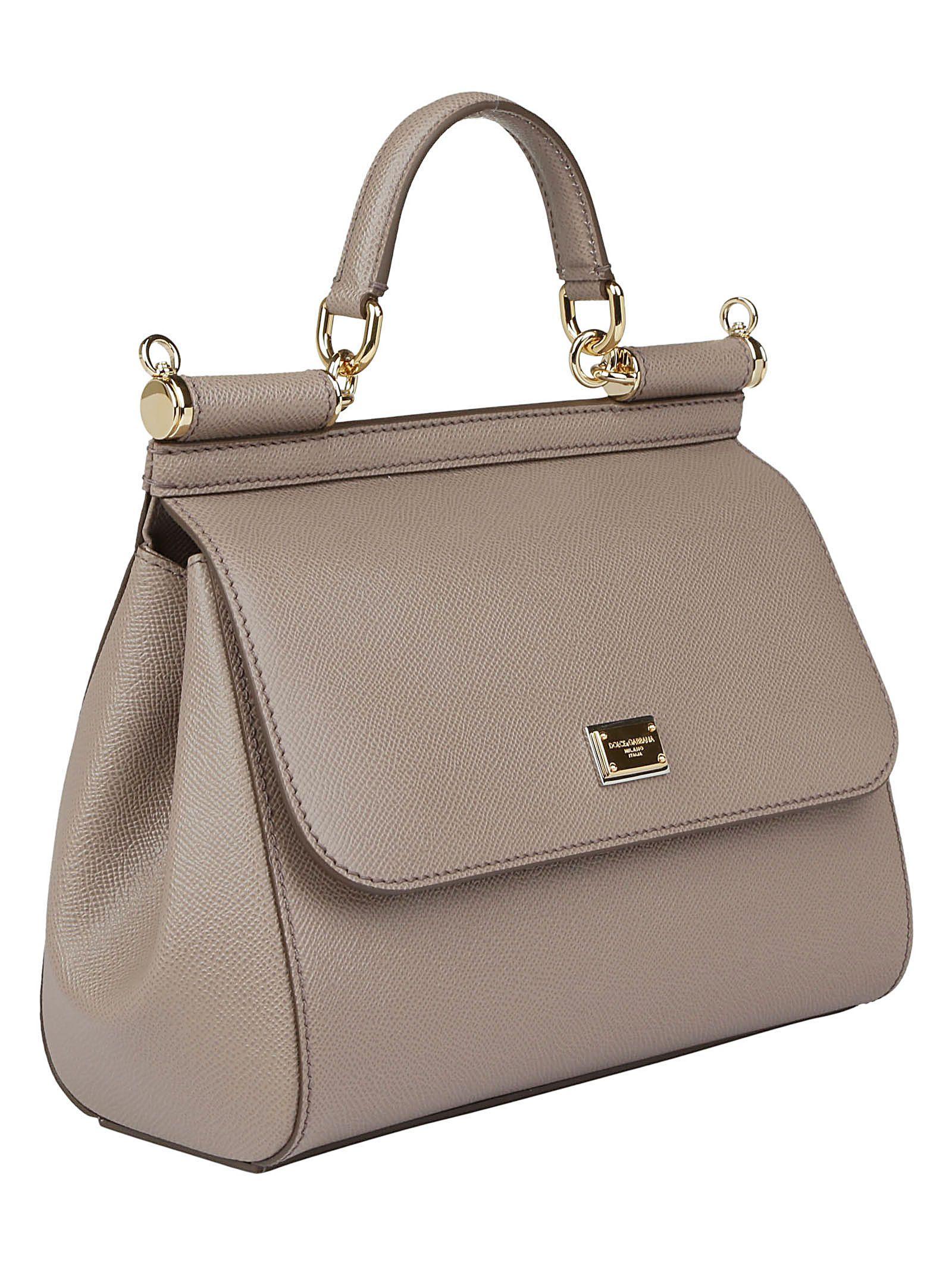 Dolce   Gabbana Dolce gabbana Sicily Handbag - Fango chiaro ... a496df4d078a5