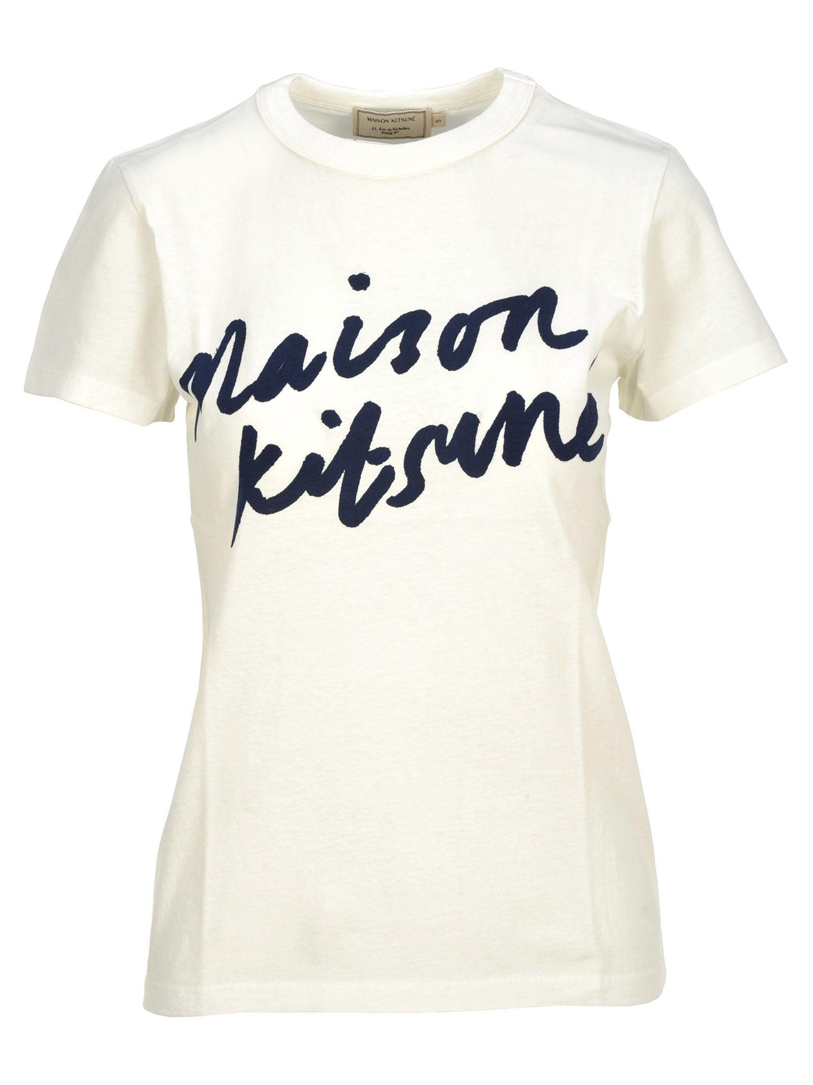 Kitsuné Handwriting Kitsune Tee Maison Shirt Milk Qhstrd