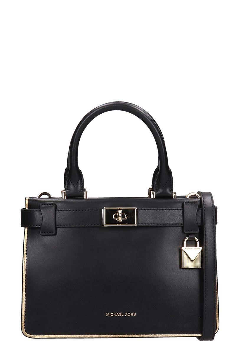 243a6d8aee2f Michael Kors Michael Kors Black Leather Mini Satchel Bag - black ...