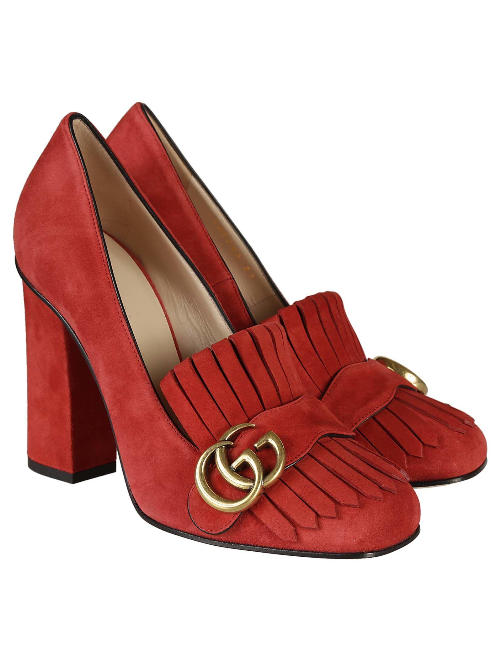 0e28250997 Gucci Gucci Suede Pumps - Red - 592844 | italist