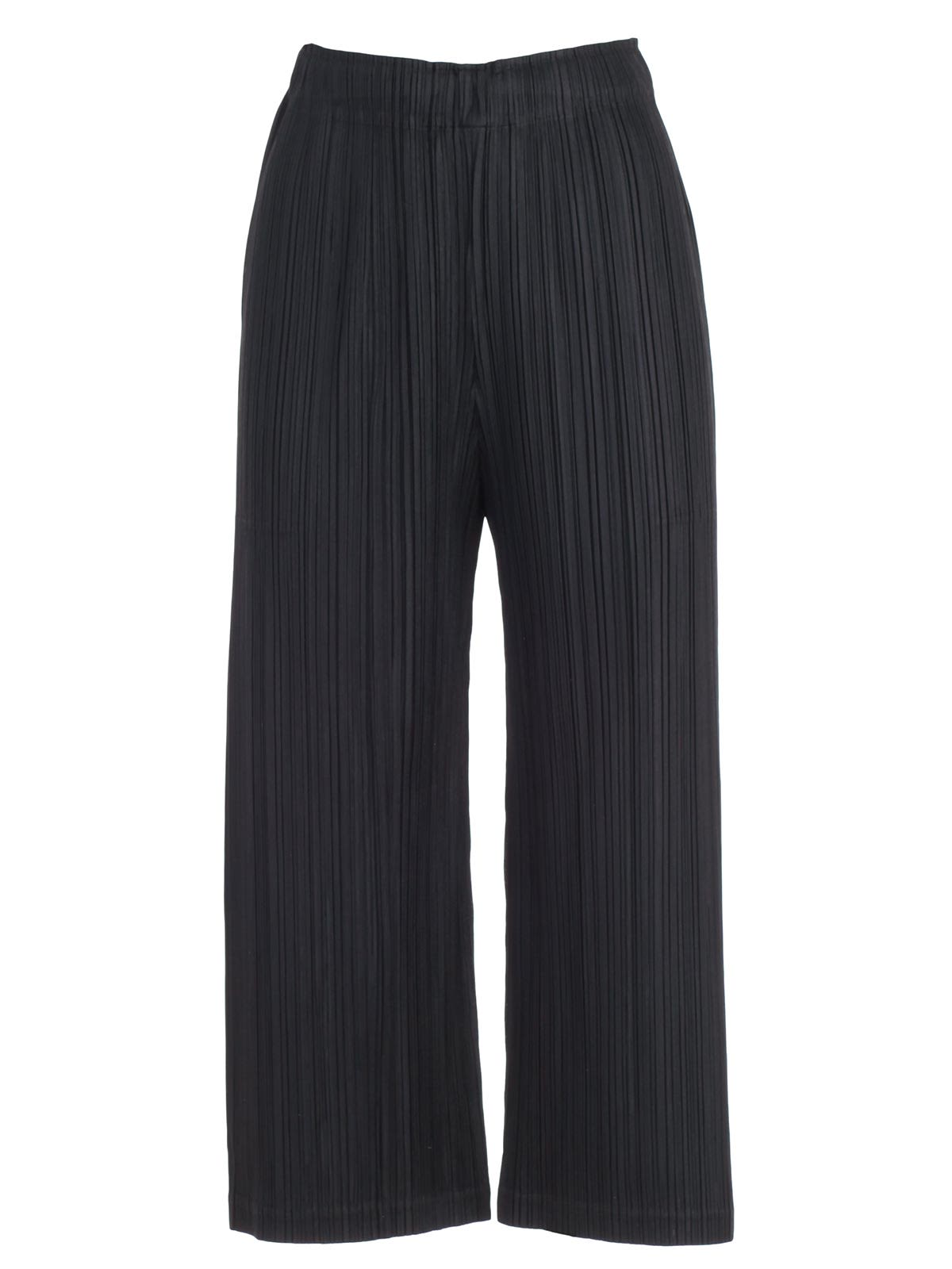 be9dbf76f2c9 Pleats Please Issey Miyake Pleats Please By Issey Miyake Cropped Pleated  Trousers - Black ...