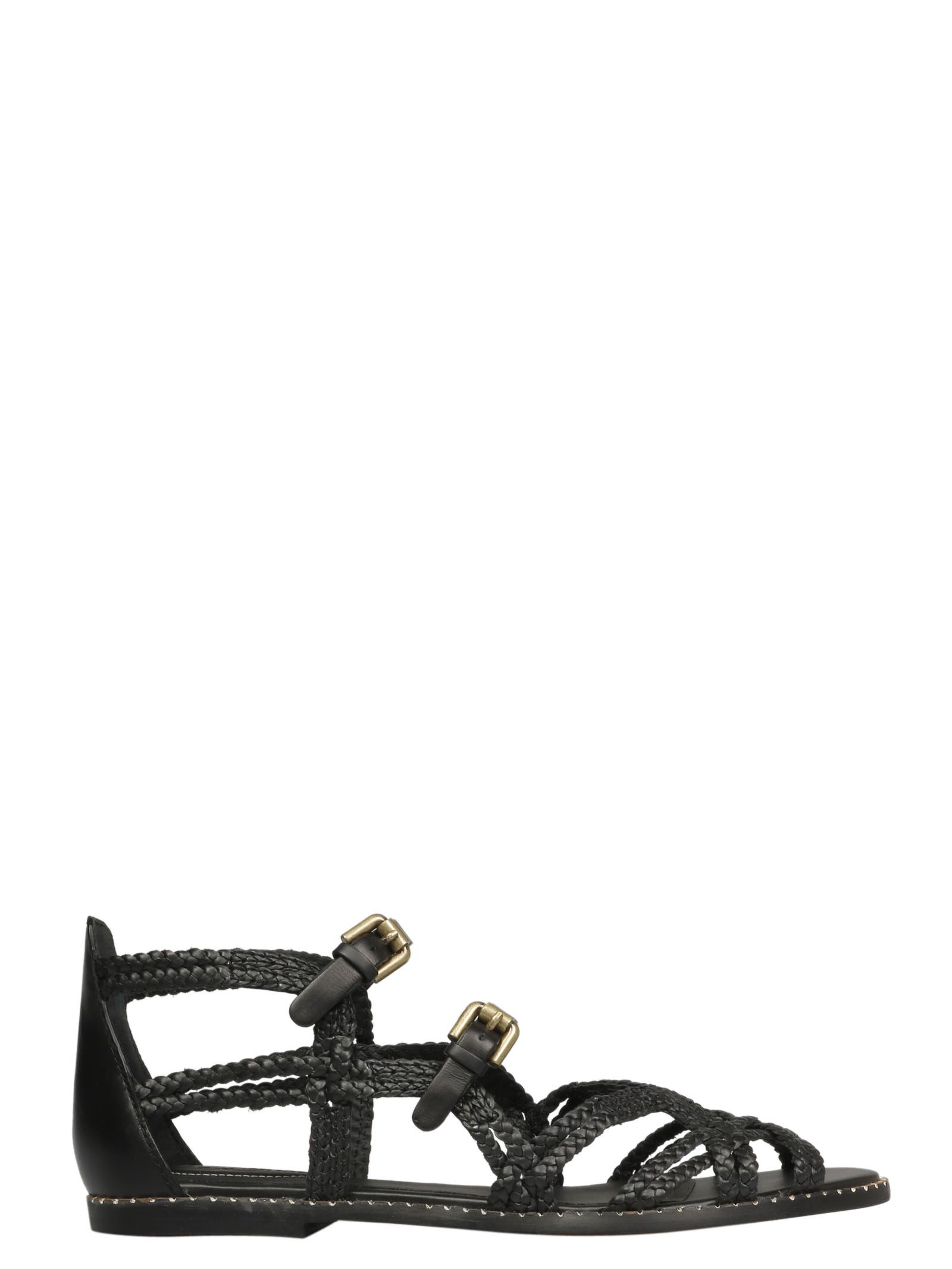 5ddbd9e430f9 See by Chloé See By Chloé Woven Strappy Sandals - Nero - 10837458 ...