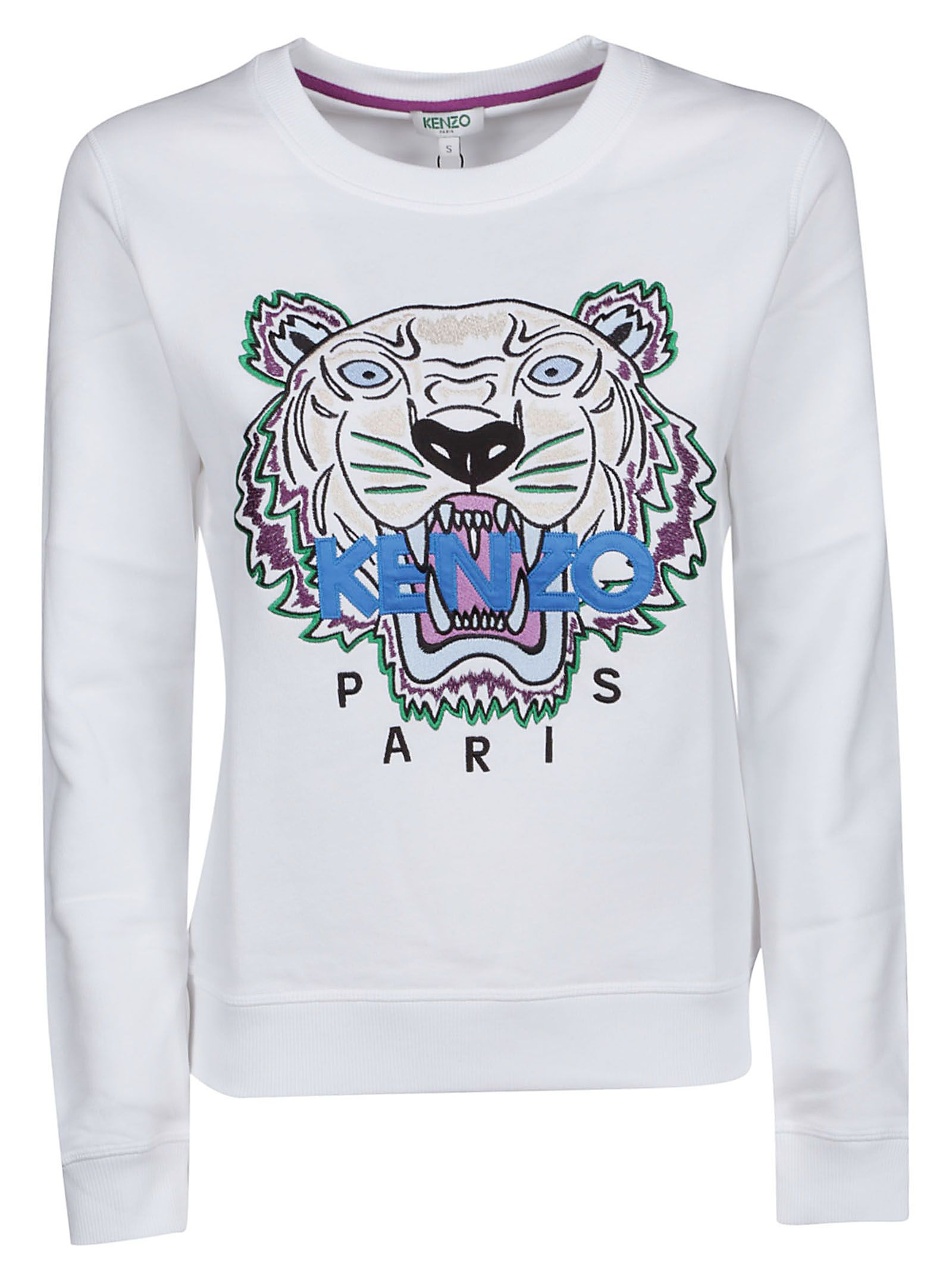 24cb01ed Kenzo Kenzo Embroidered Tiger Sweatshirt - Blanc - 10827796 | italist