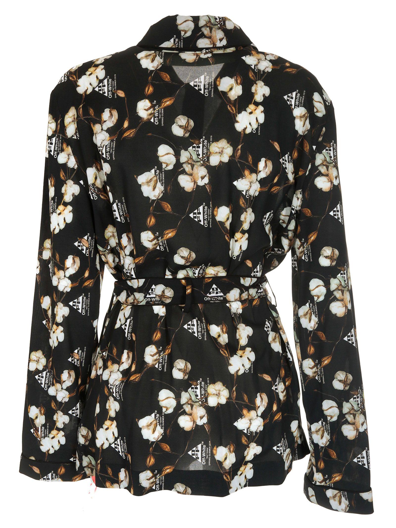 ea95bef02e82 Off-White Off-white Floral Crepe Pajama Shirt - Basic - 10798209 ...