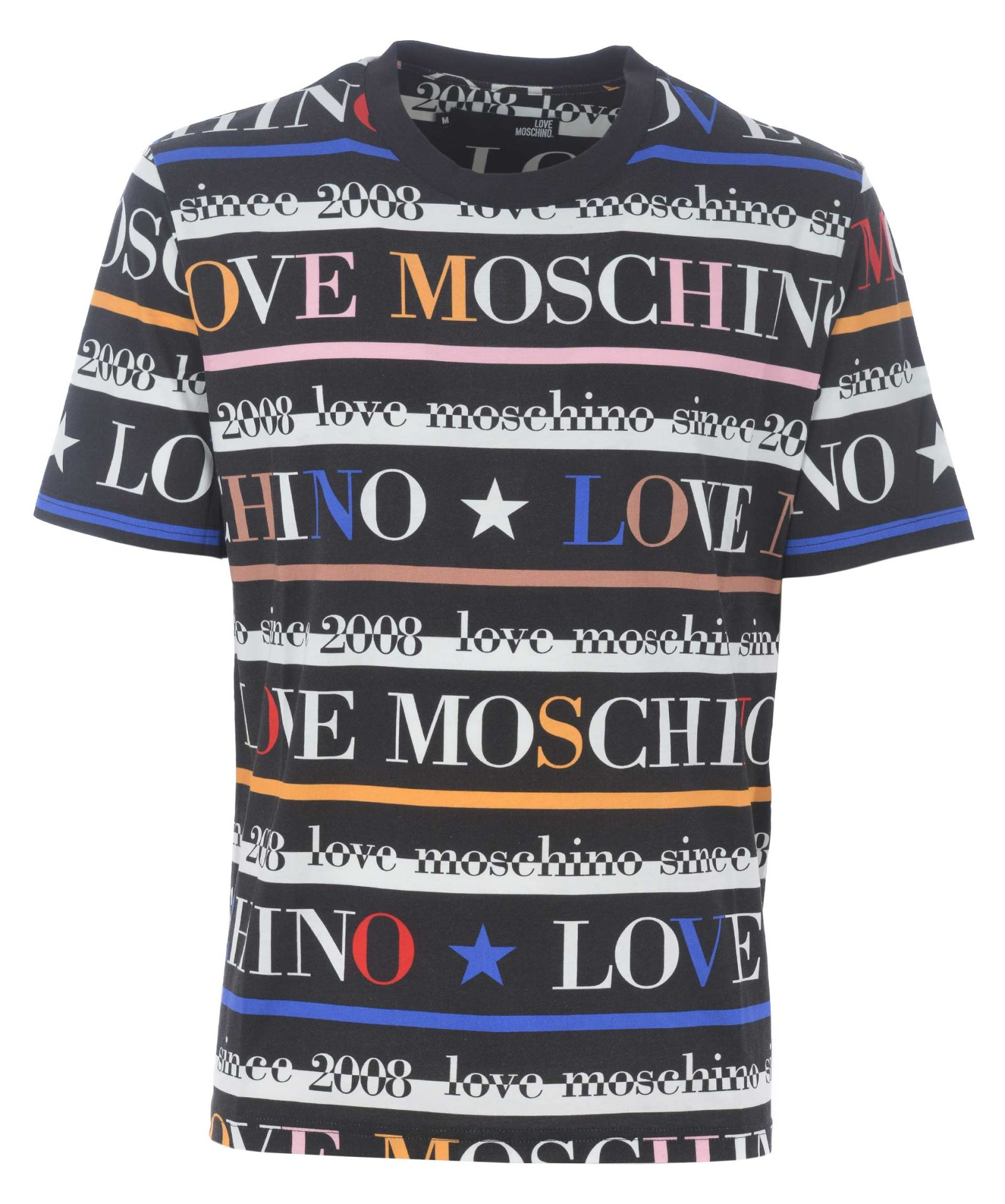 4d3763bb5b3122 Love Moschino Logo Print T-shirt - Nero/multicolor - 10863719   italist