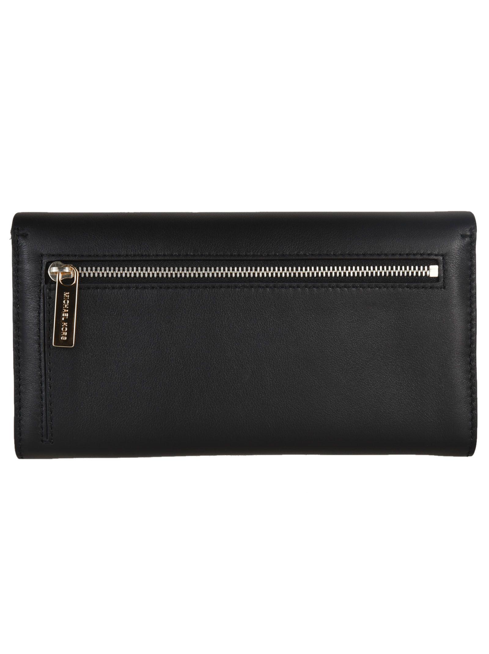 f9a1052fda08 Michael Kors Michael Kors Miranda Continental Wallet - Black ...