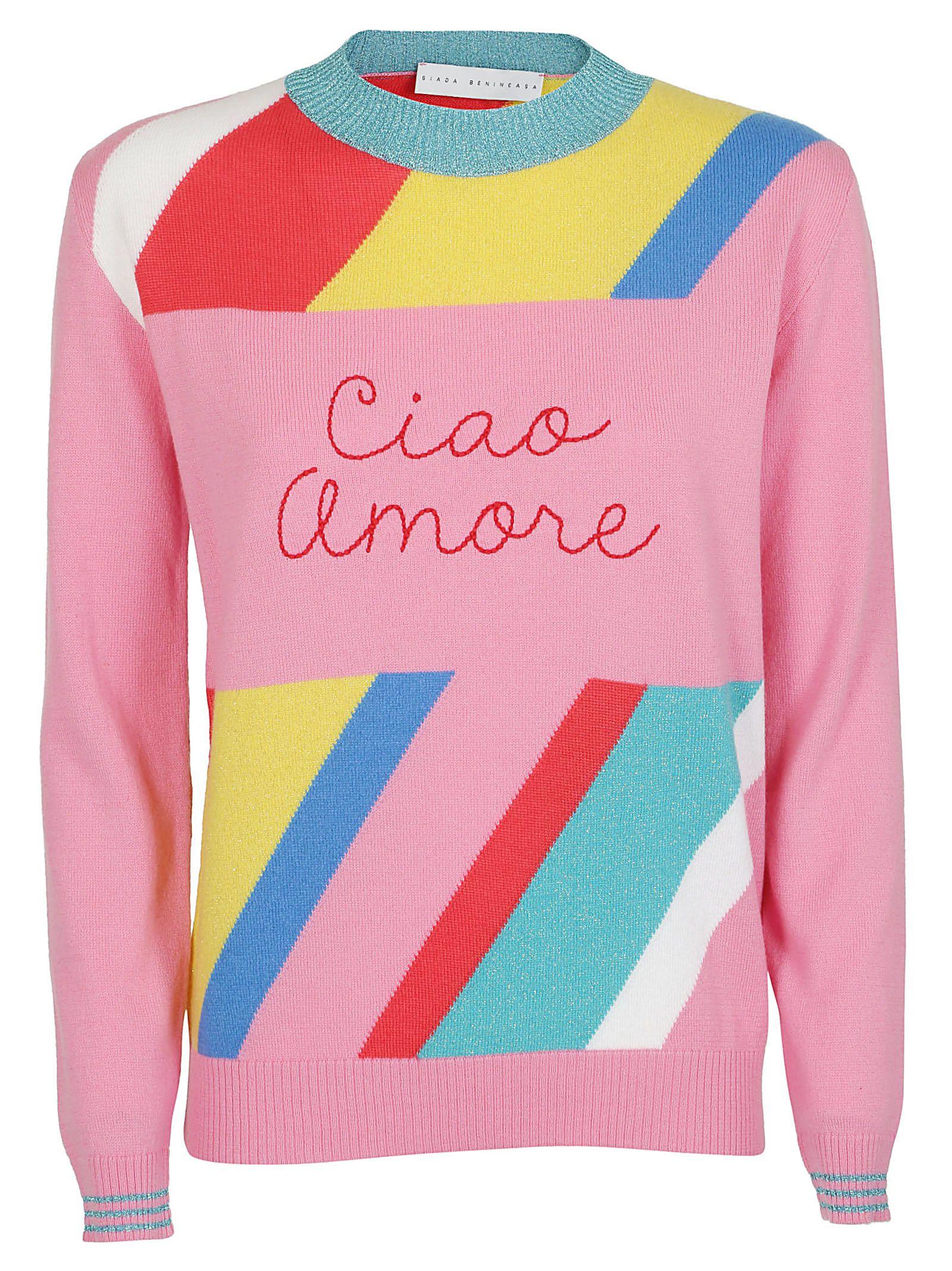 Giada Benincasa Giada Benincasa Ciao Amore Jumper Pink 10845081