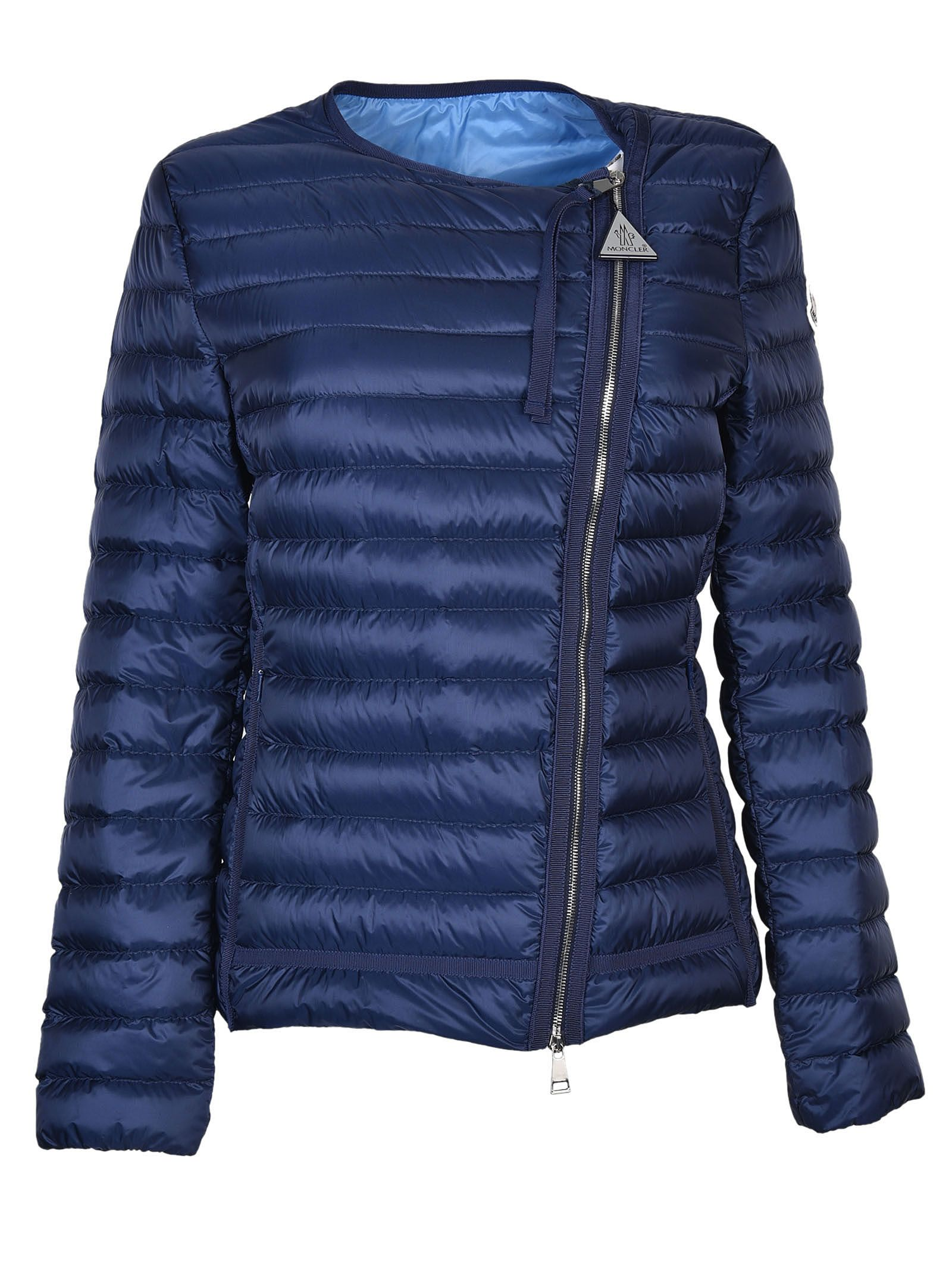 c6da904380d Moncler Zipped Padded Jacket - Blue ...
