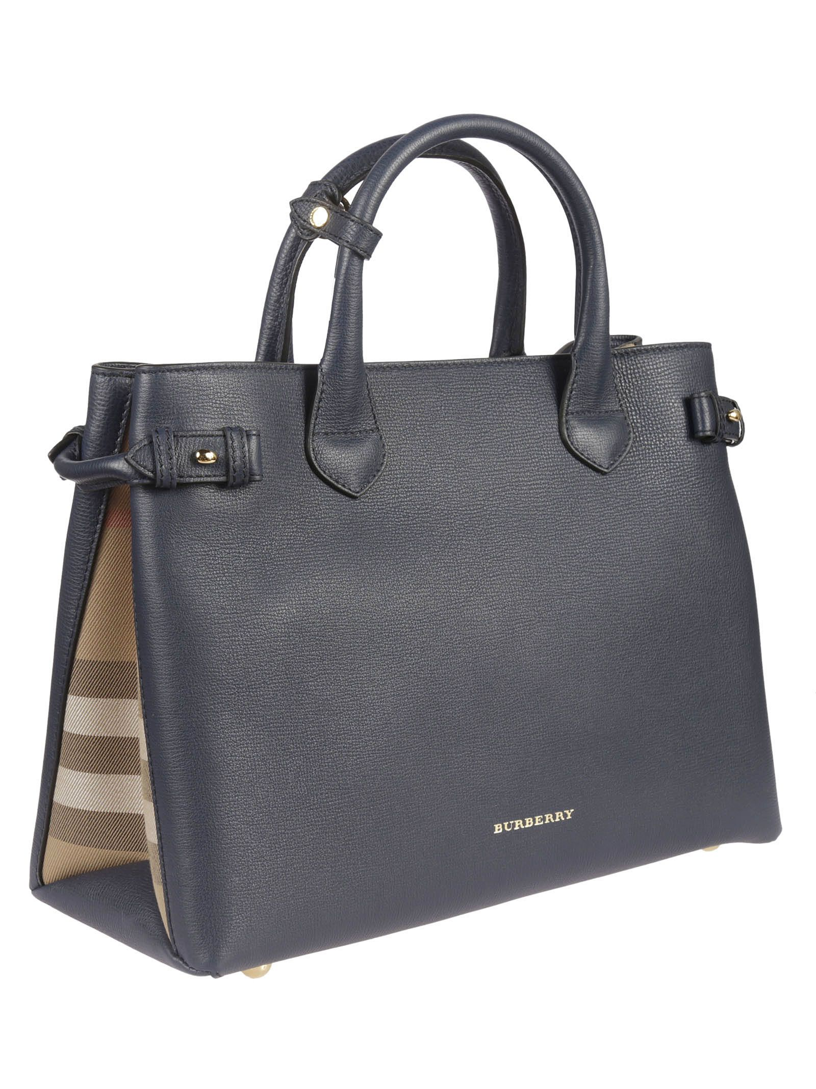 ca7a591b1f67 ... Burberry House Check Tote - Ink Blue ...