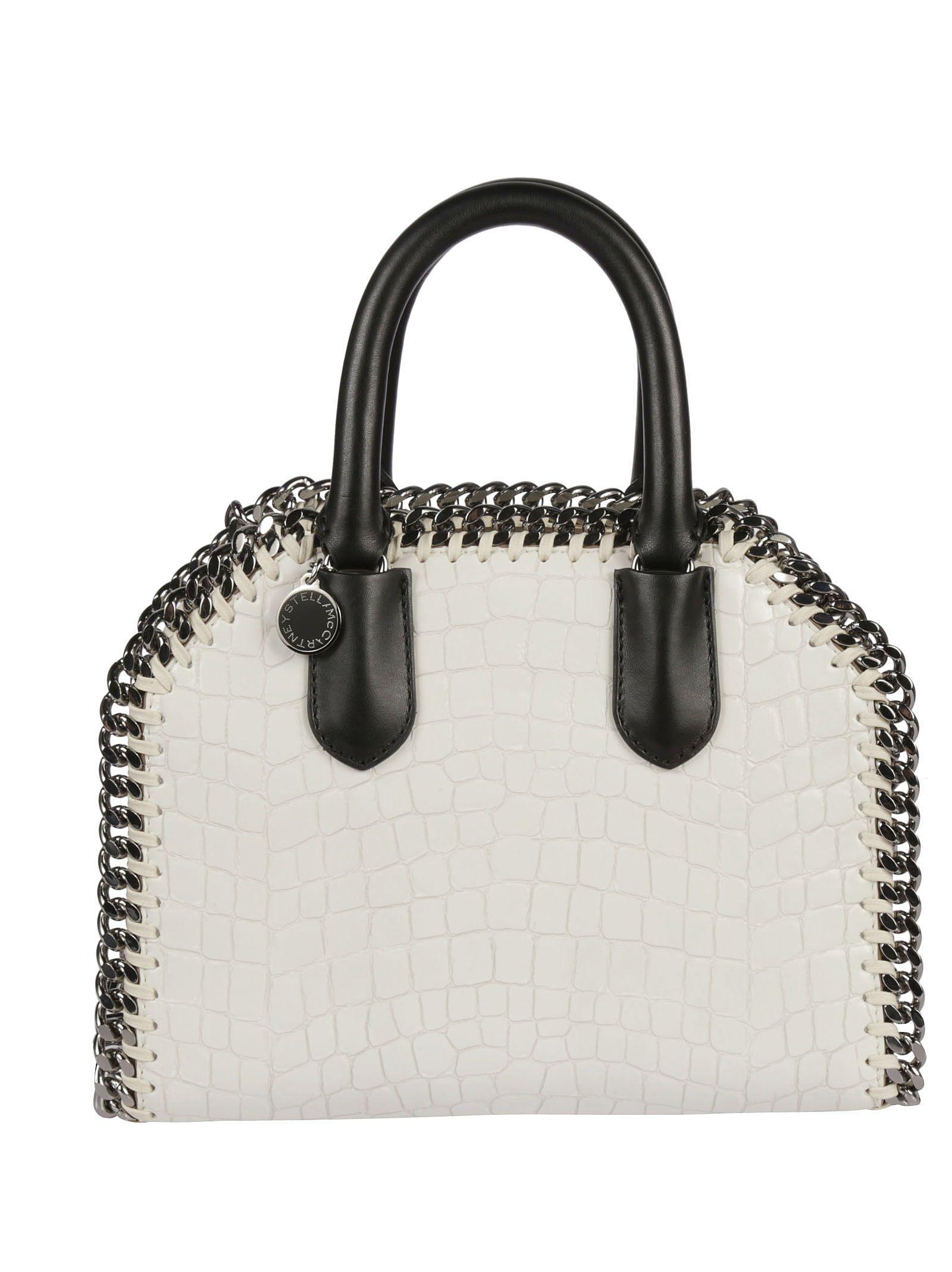 3e8bba87a7 Stella McCartney Mini Falabella Snakeskin Effect Shoulder Bag - White ...