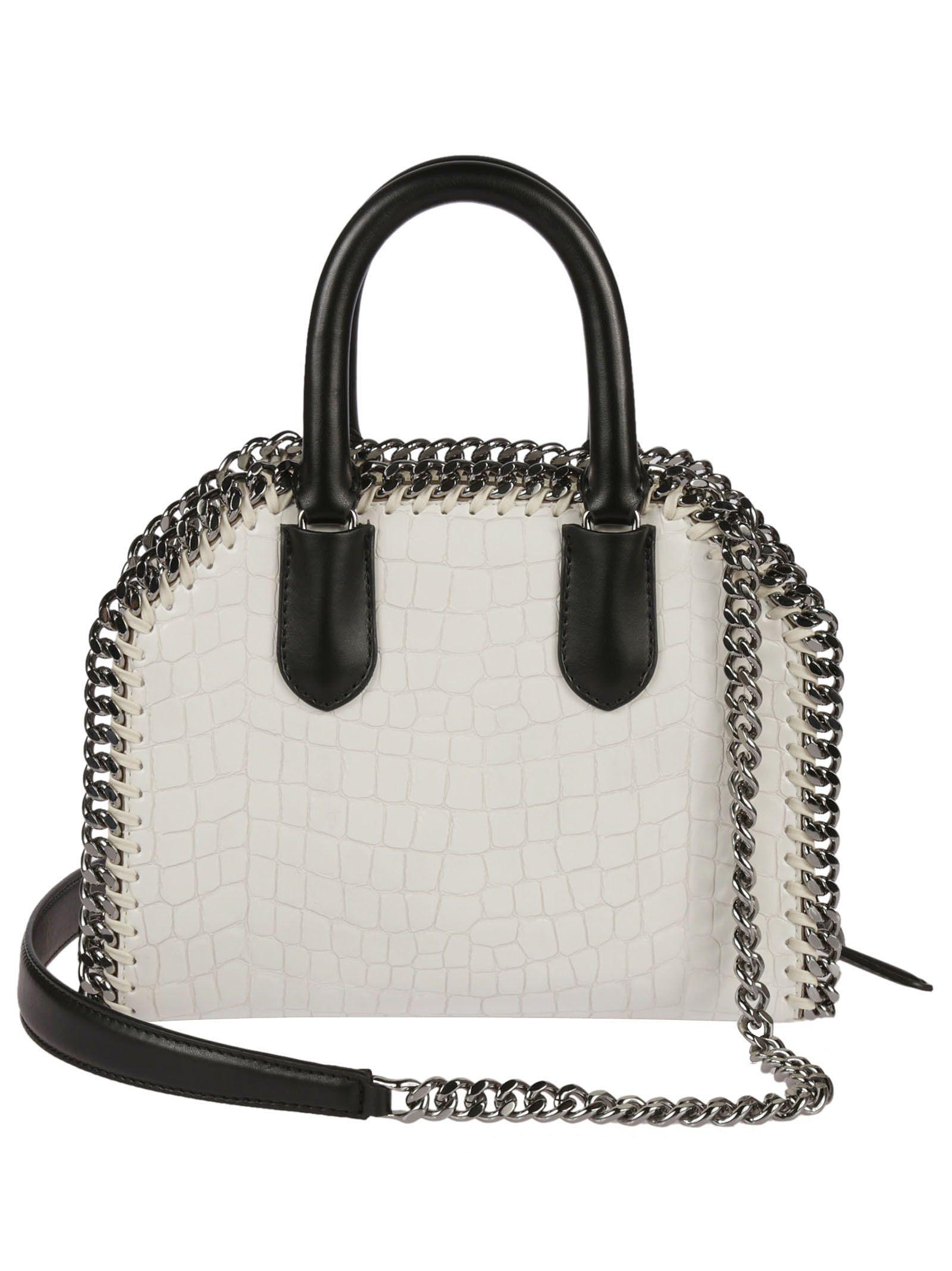 fc5acb3e16 ... Stella McCartney Mini Falabella Snakeskin Effect Shoulder Bag - White