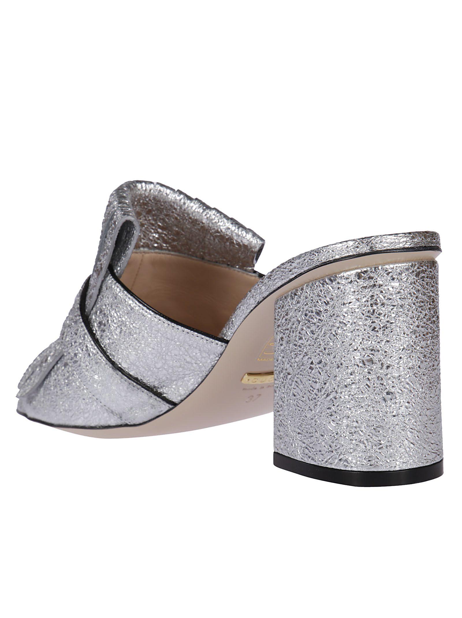 c4d2bf4a528a Gucci Gucci Fringe Flap Mules - Silver - 5907315
