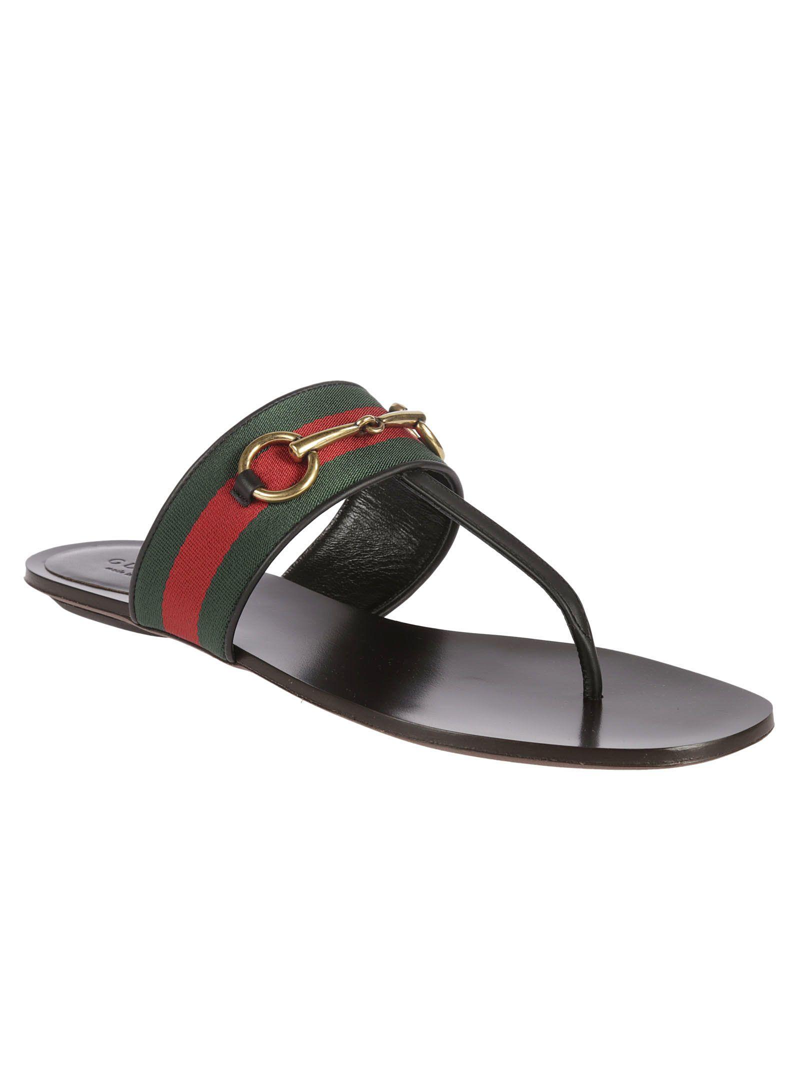 Gucci Gucci Horsebit Flip Flops - Black - 5945296  Italist-9114
