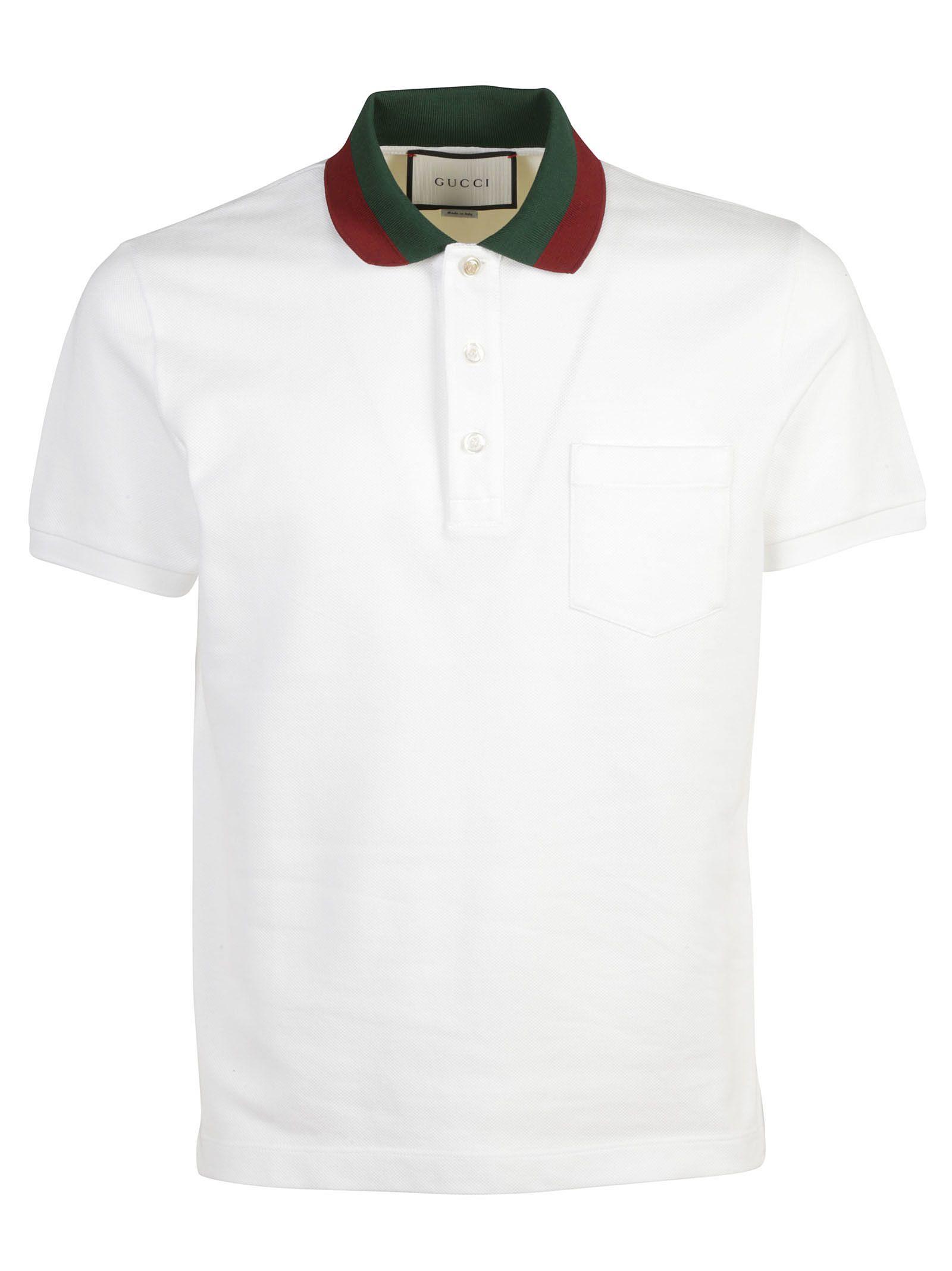 Gucci Gucci Stripe Collar Polo Shirt White 6125872 Italist
