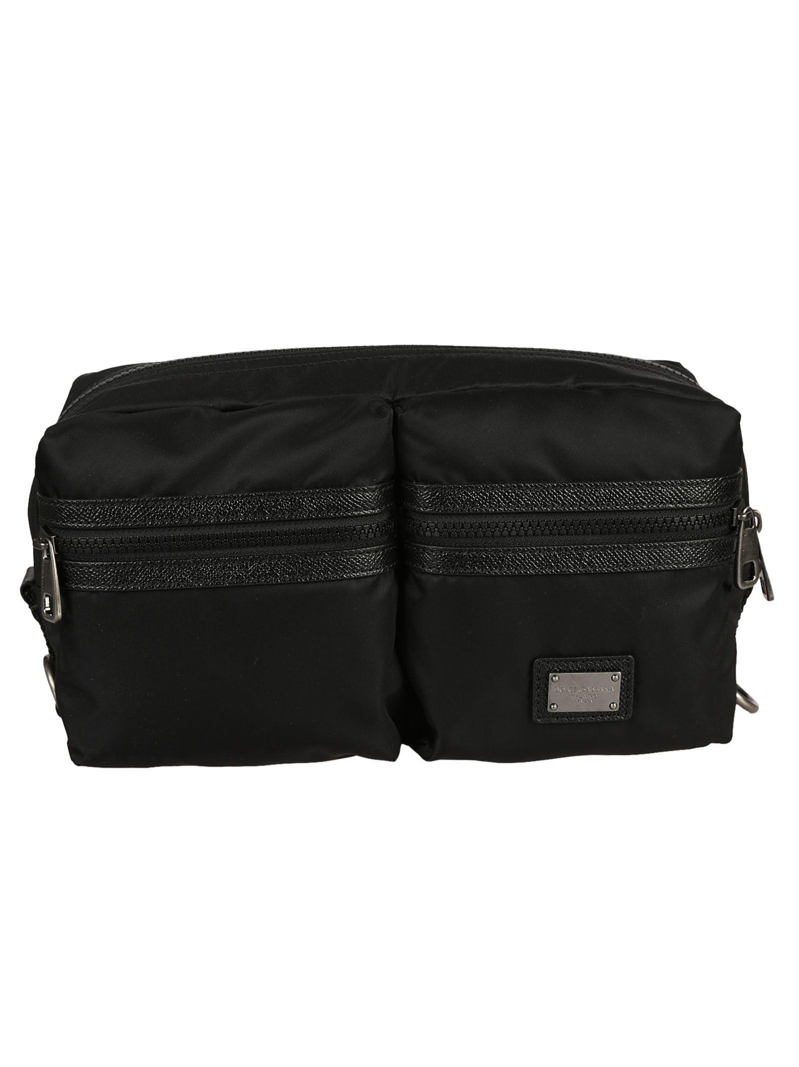 04d9ddd1058b Dolce   Gabbana Dolce   Gabbana Double Compartment Bumbag - Black ...