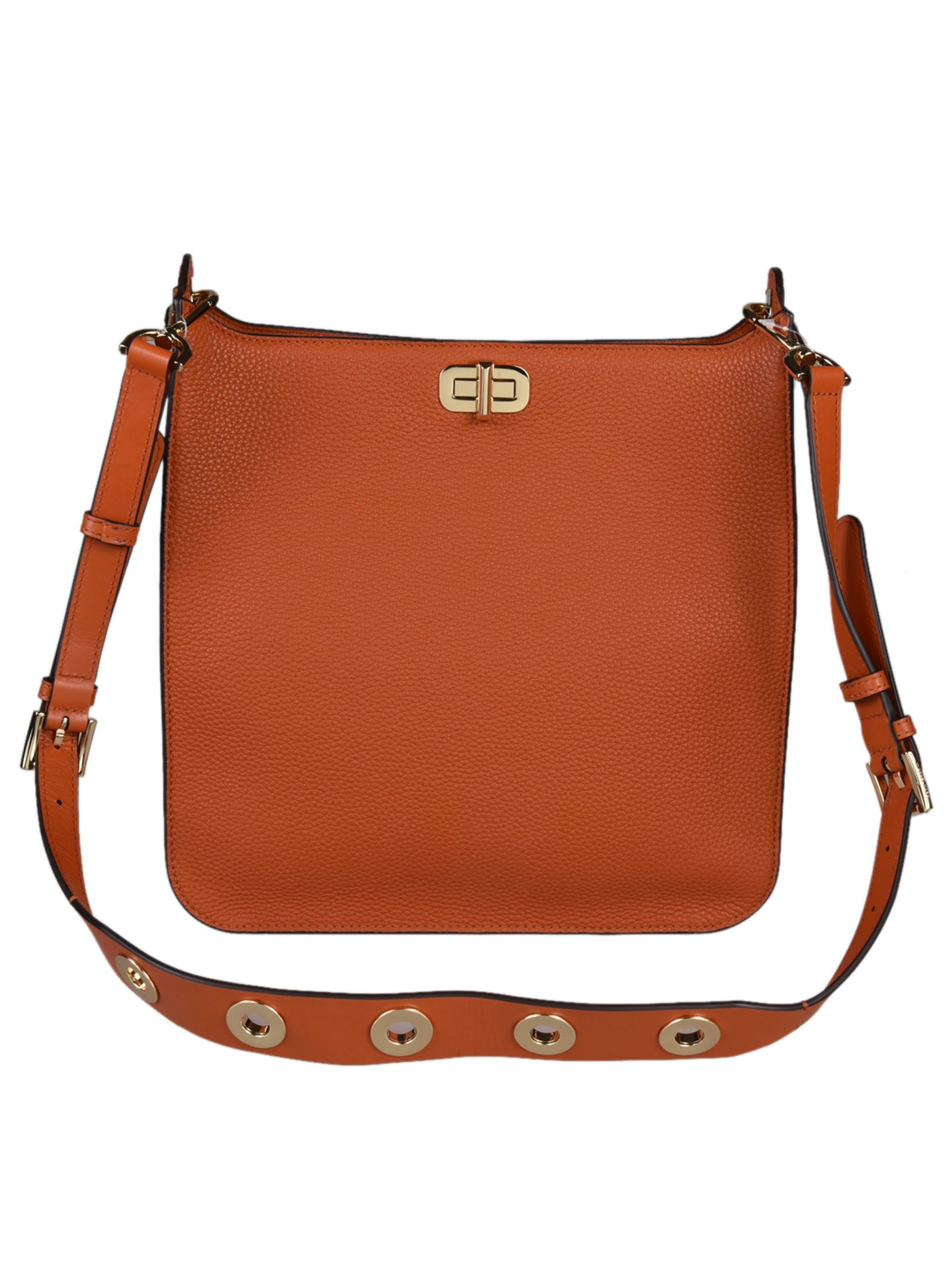 fde8605acd241 ... Michael Kors Sullivan Large North South Messenger Shoulder Bag - Orange