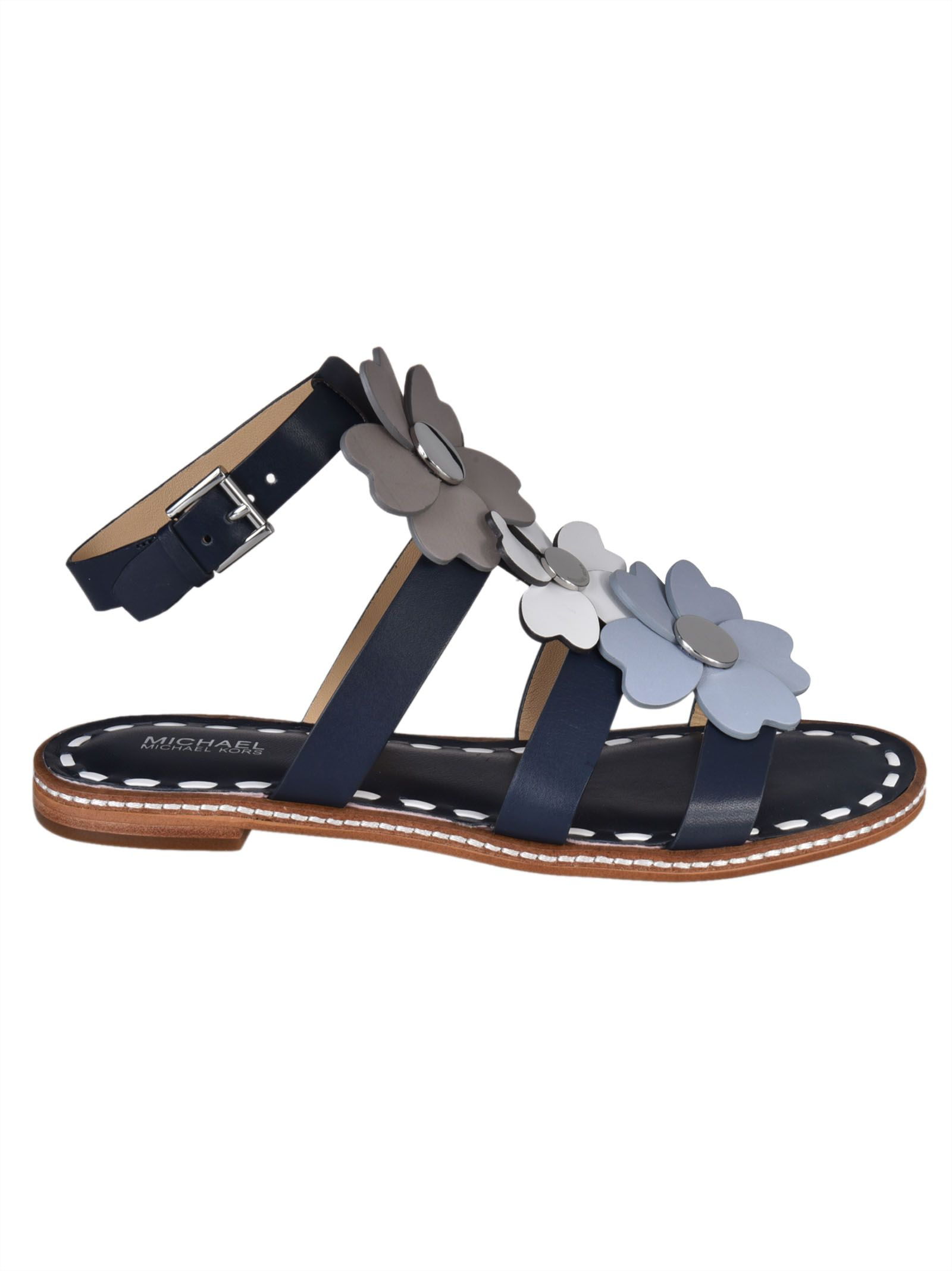 MICHAEL Michael Kors MICHAEL Michael Kors Kit Flat Sandals - Blue ...