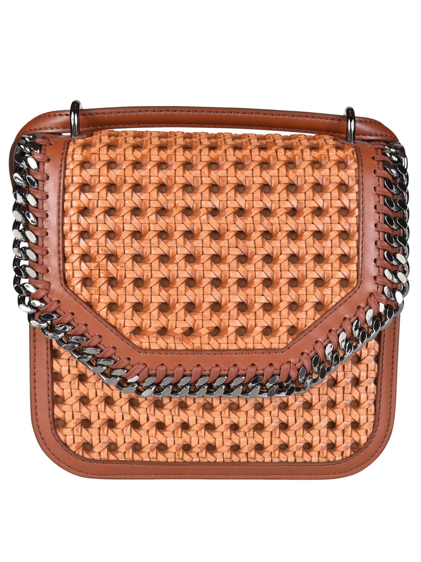619c5368a7ab Stella McCartney Medium Falabella Box Wicker Shoulder Bag - Brown ...