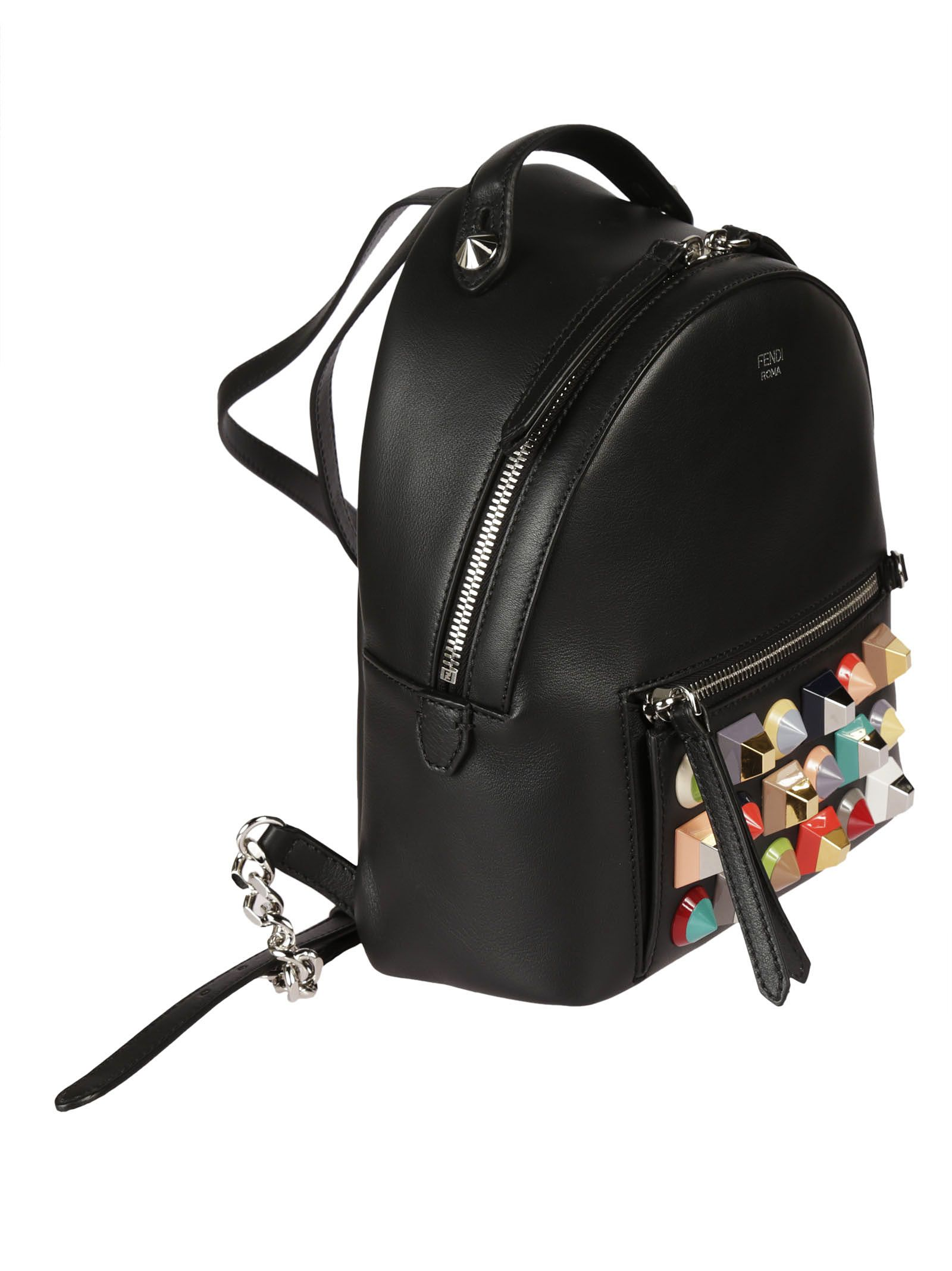 Fendi Fendi Mini Pyramid Studded Backpack - Black - 6622293  c5078b710273e